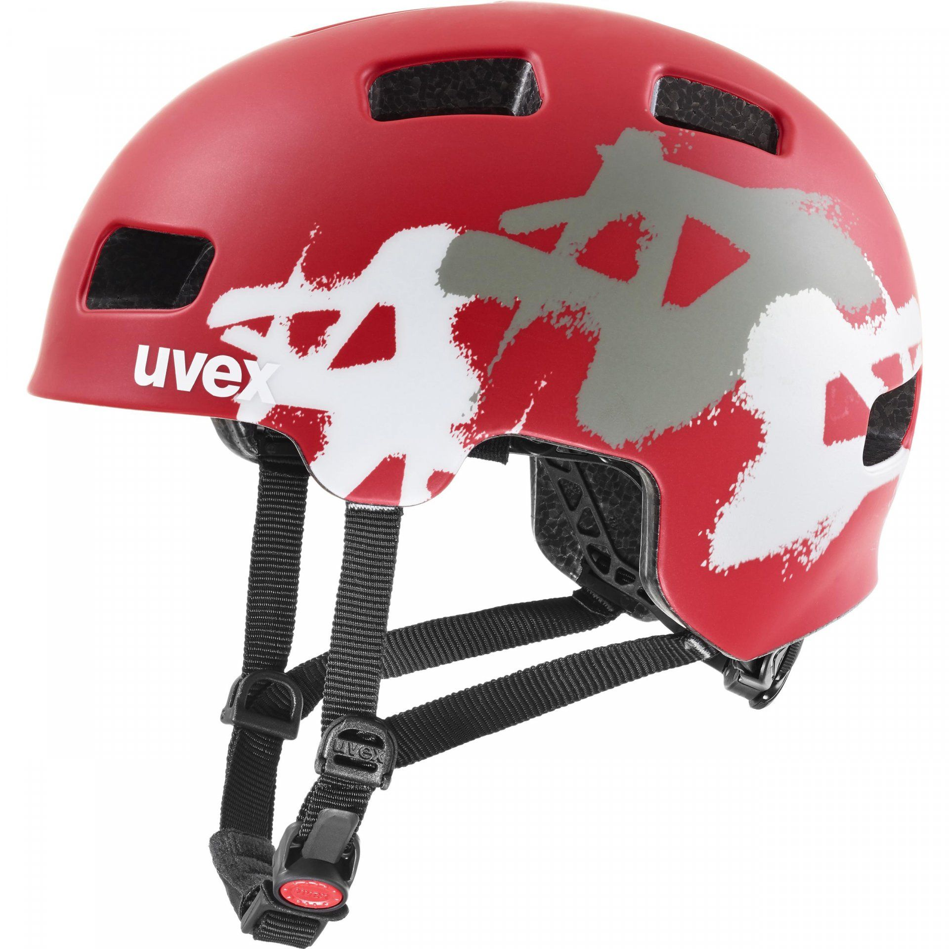 KASK ROWEROWY UVEX HLMT 4 CC RED GRAFFITI 1