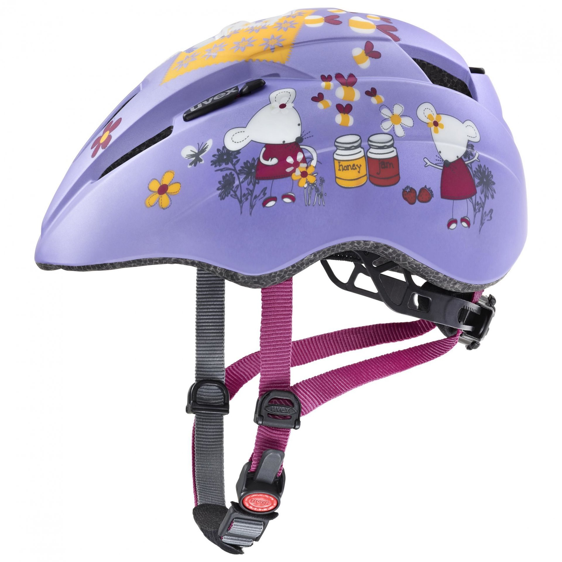 KASK ROWEROWY UVEX KID 2 CC LILAC MOUSE MAT