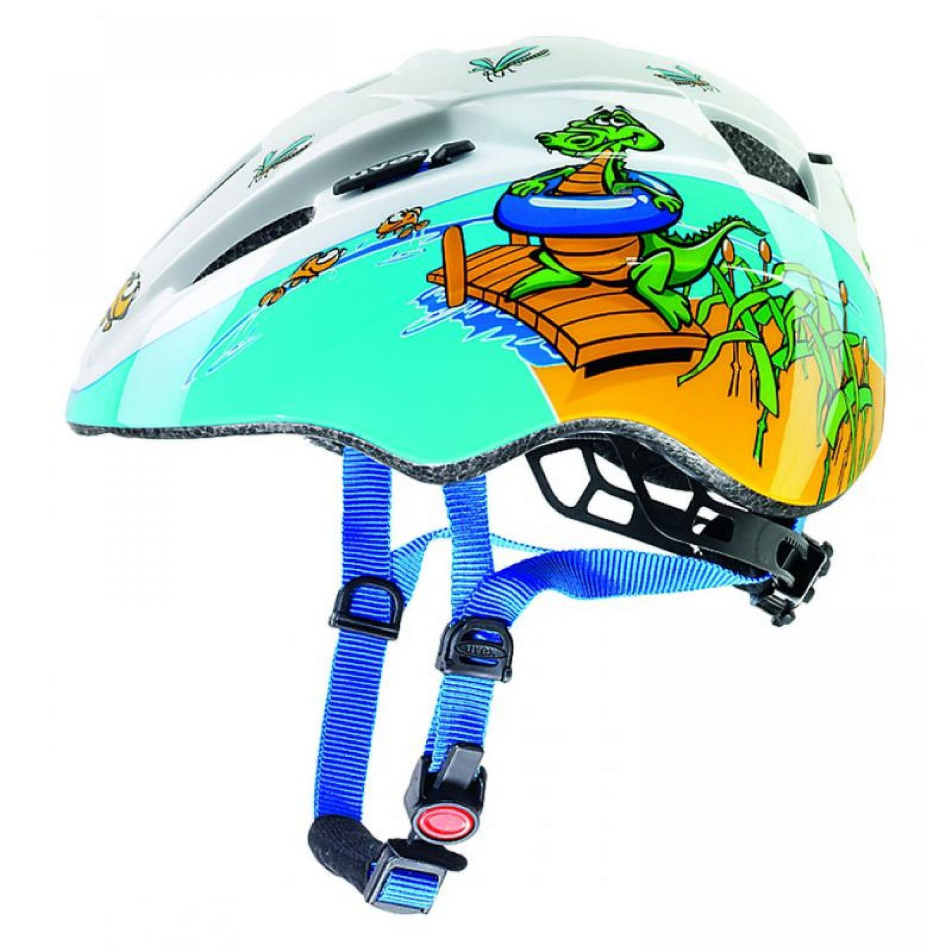 Kask rowerowy Uvex Kid II wielokolorowy