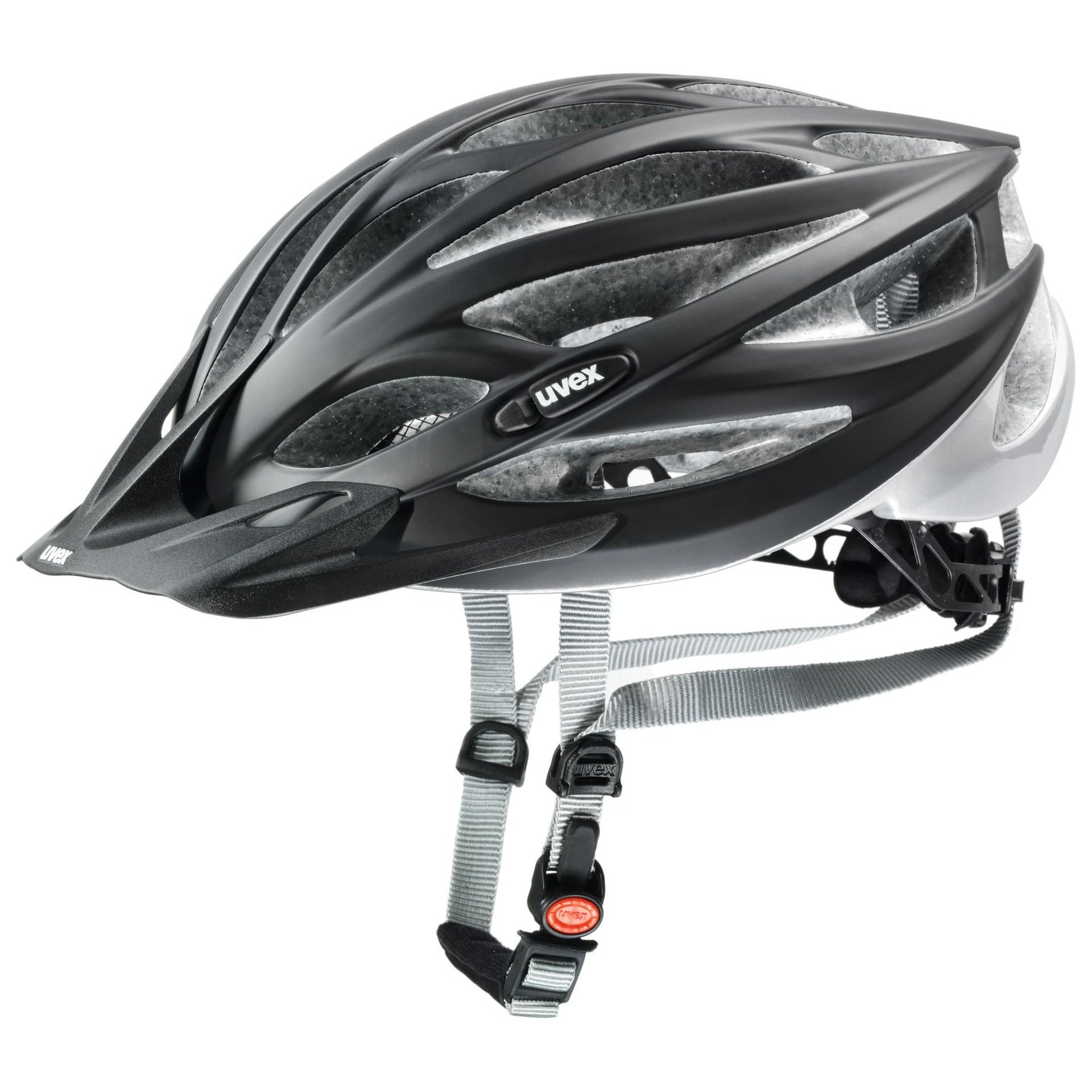 KASK ROWEROWY UVEX OVERSIZE BLACK MAT|SILVER