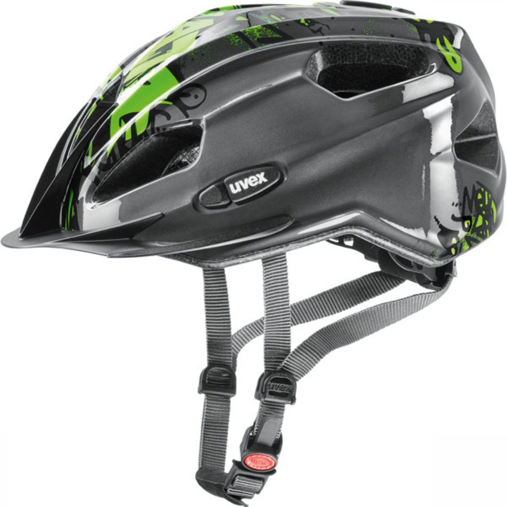 KASK ROWEROWY UVEX QUATRO JUNIOR 257|26 ANTHRACITE|GREEN