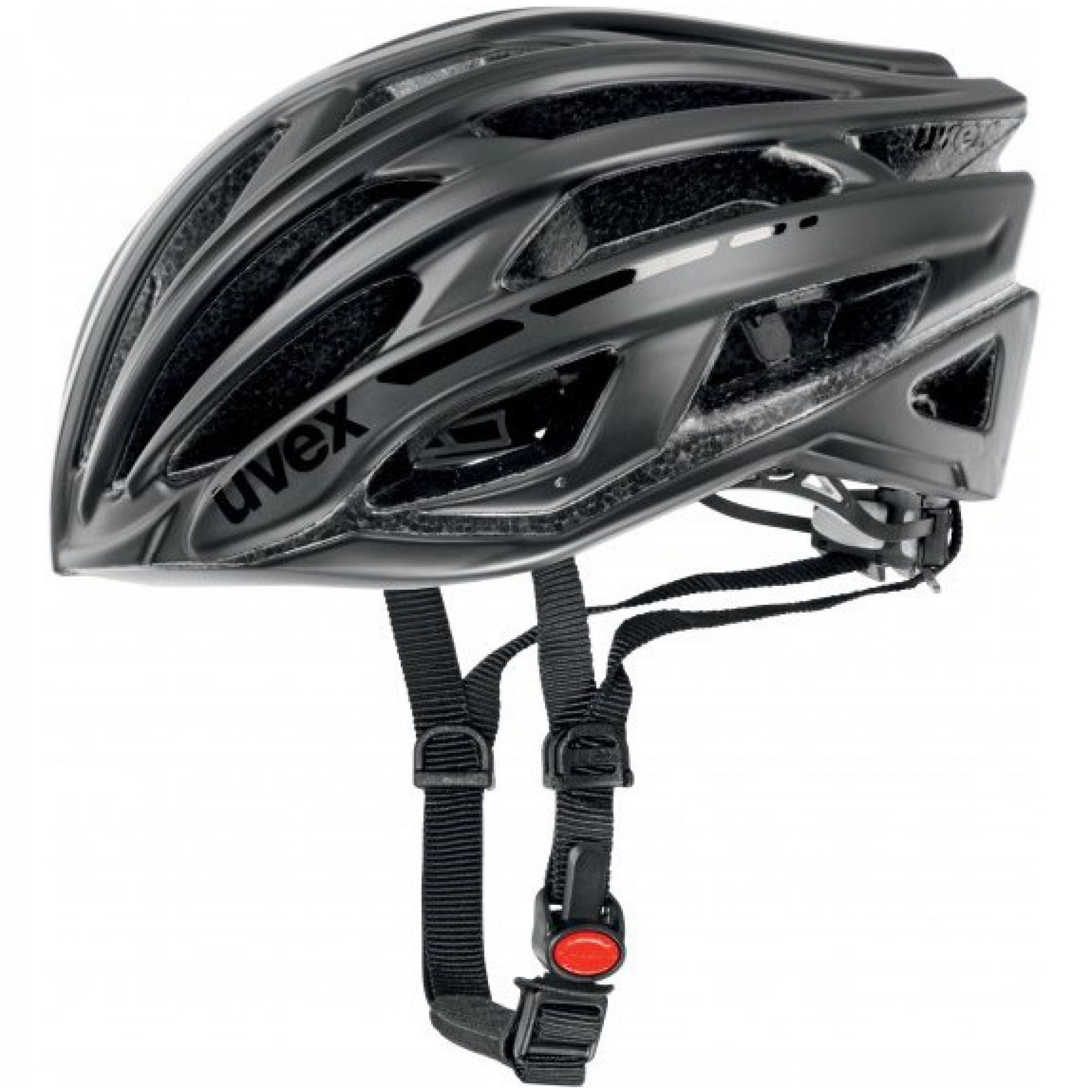 KASK ROWEROWY UVEX RACE 5  BLACK MAT SHINY