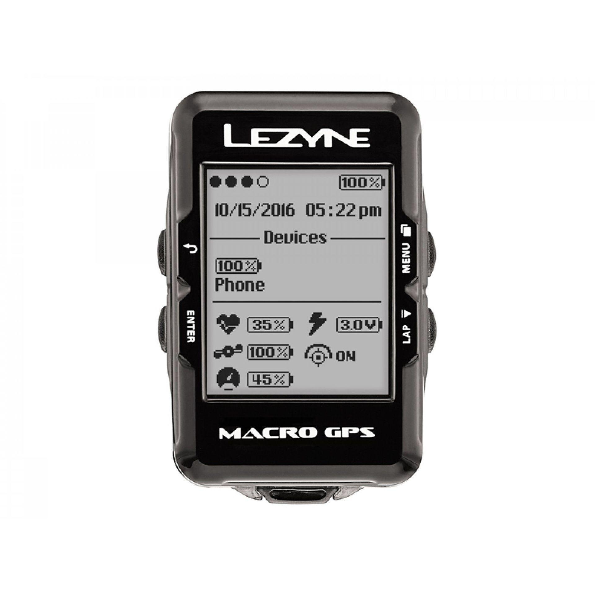 KOMPUTER ROWEROWY LEZYNE MACRO GPS CZARNY 1