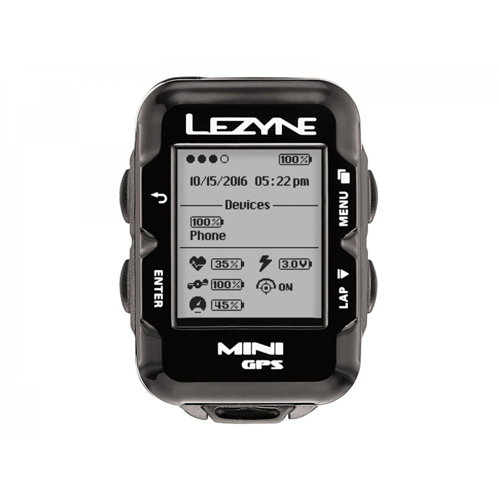 KOMPUTER ROWEROWY LEZYNE MINI GPS CZARNY 1