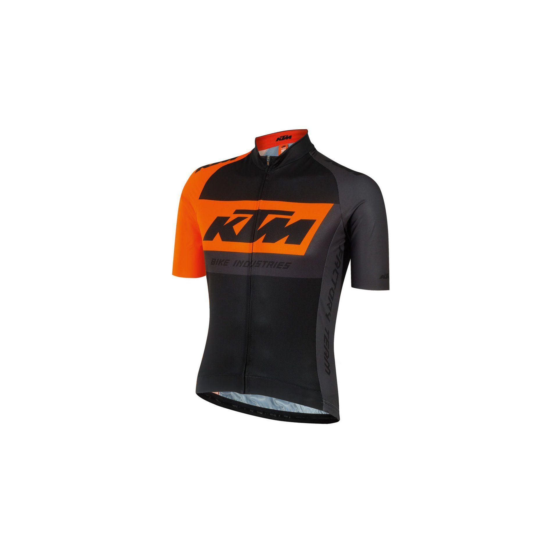 KOSZULKA ROWEROWA KTM FACTORY TEAM BLACK 659276056 1