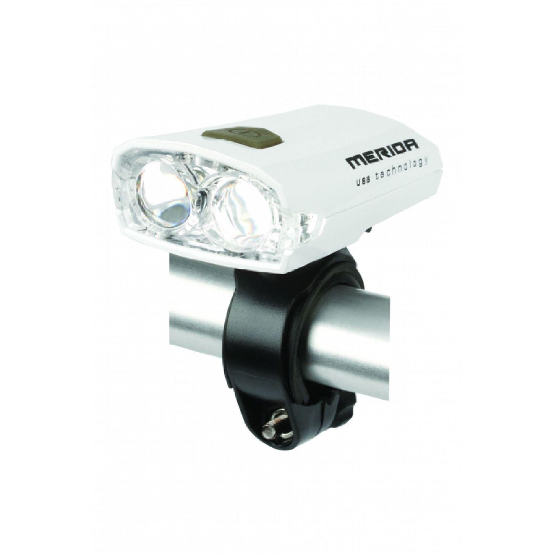 Lampka Rowerowa Merida USB biała