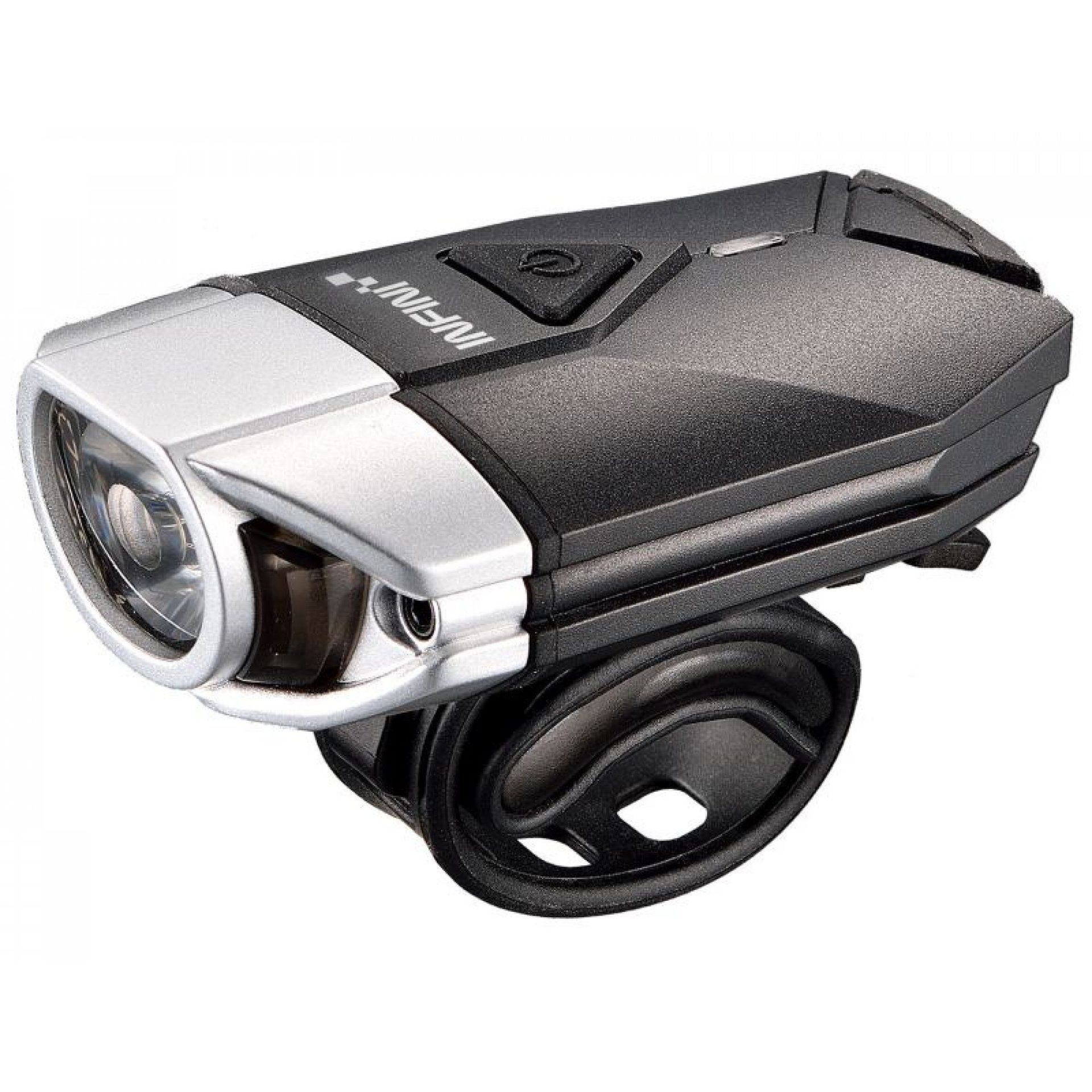 LAMPKA ROWEROWA PRZEDNIA INFINI SUPER LAVA USB  CZARNY|SREBRNY 1