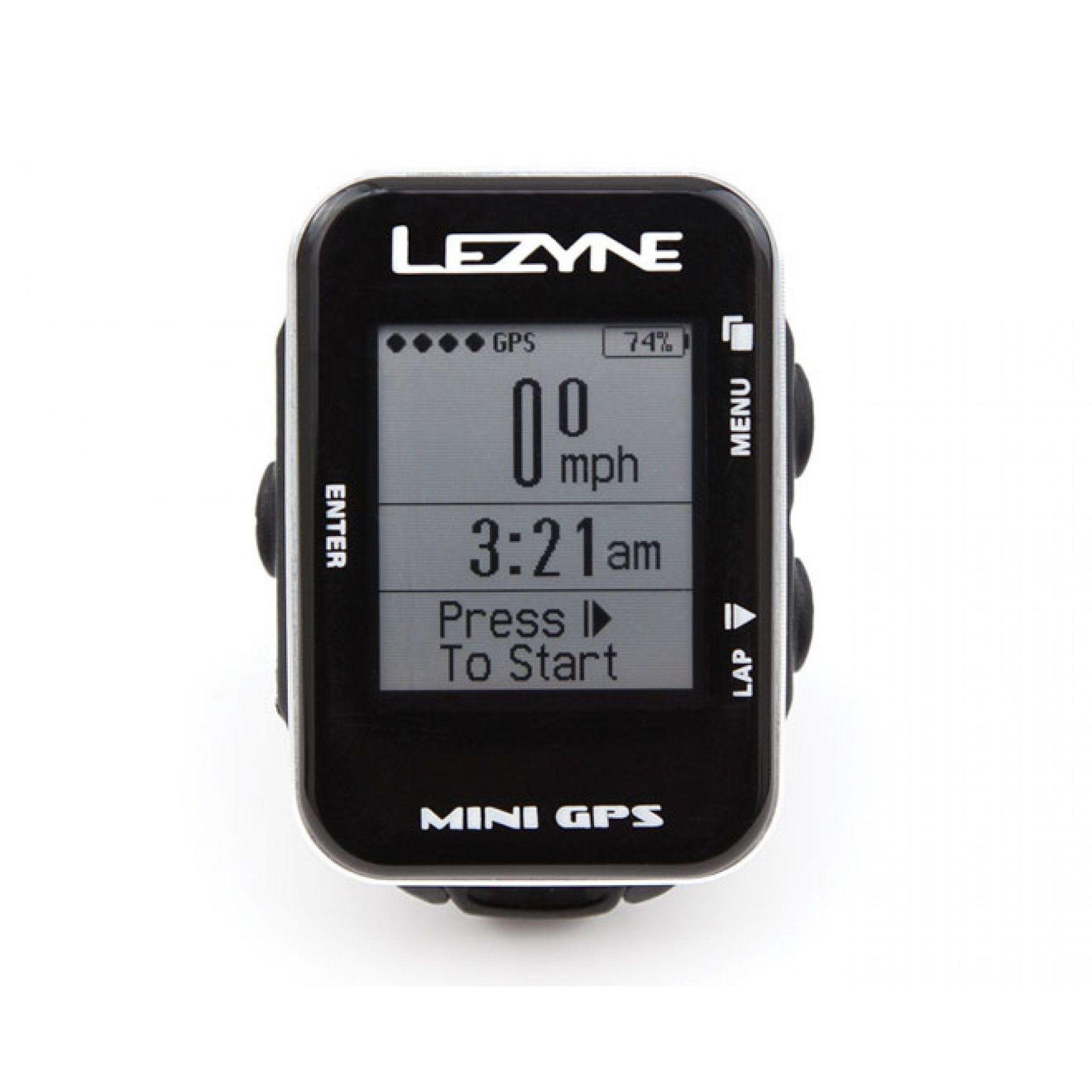LICZNIK ROWEROWY LEZYNE MINI GPS CZARNY 1