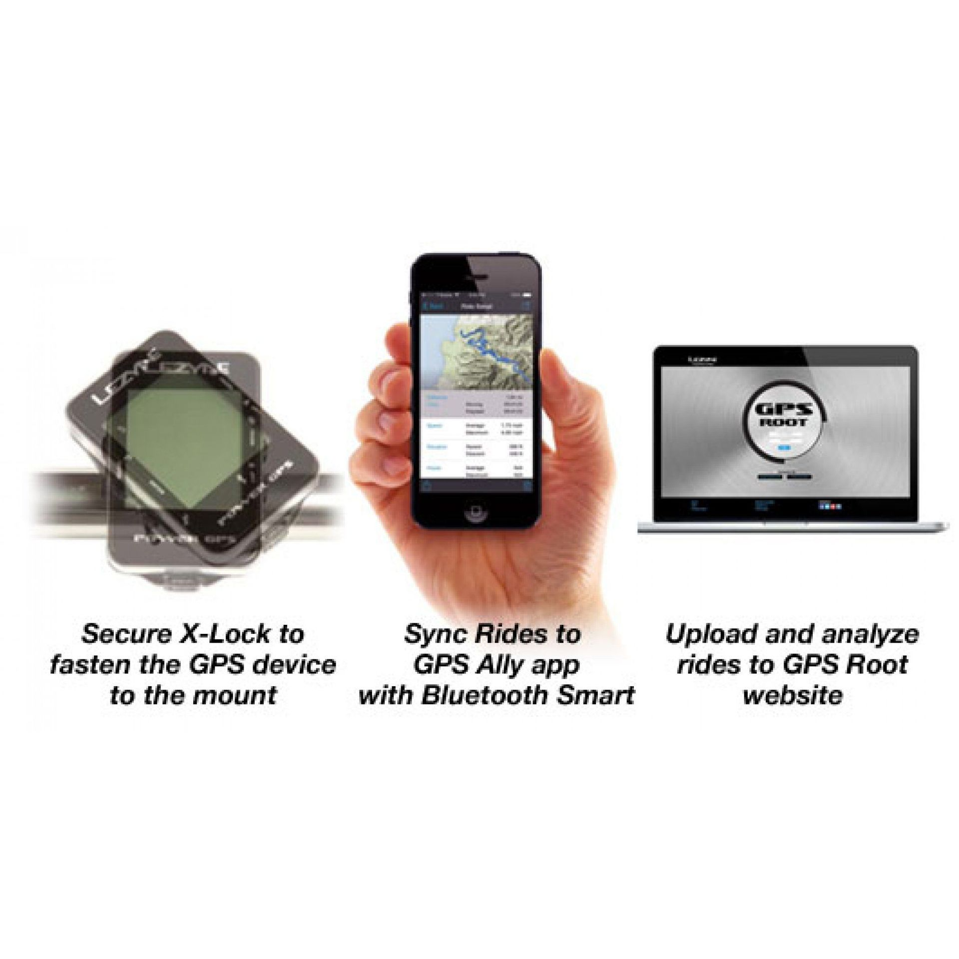 LICZNIK ROWEROWY LEZYNE MINI GPS CZARNY 8
