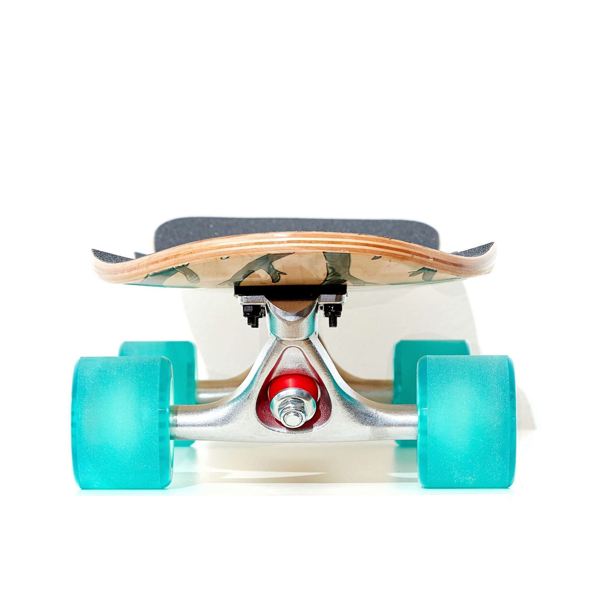 LONGBOARD FISH SKATEBOARDS CRUISER 32 SEADRAGON|SILVER|TRANSPARENT GREEN 2