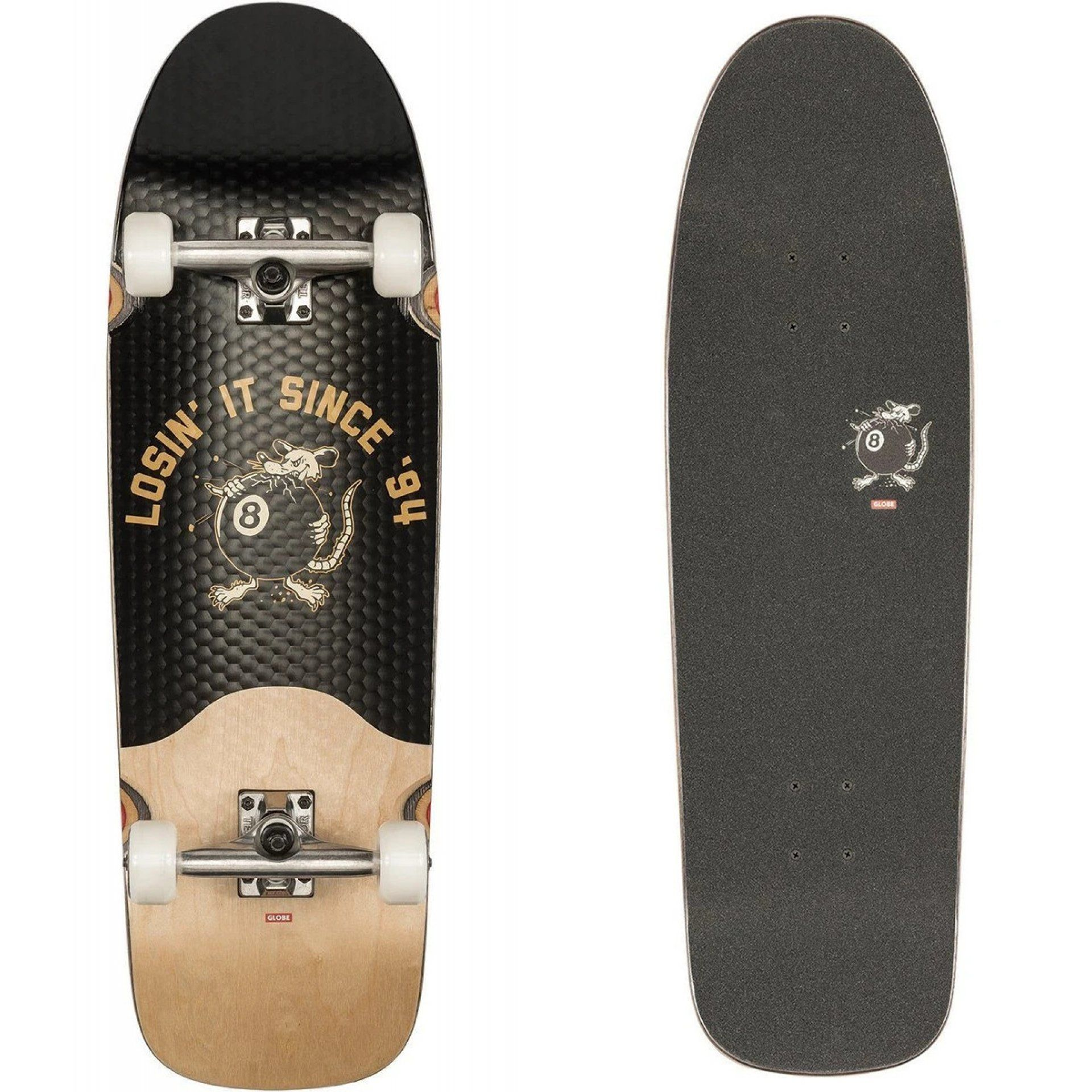 LONGBOARD GLOBE CHOPPER BLACK|NATURAL