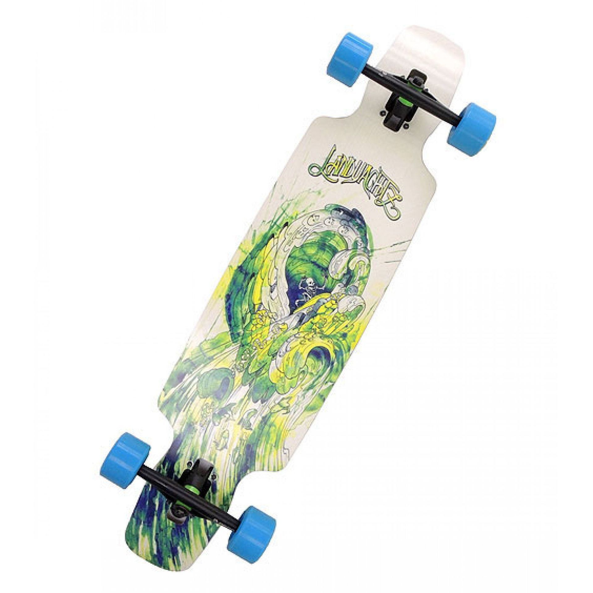 LONGBOARD LANDYACHTZ DROP CARVE 37 WAVES BASIC BLUE 1