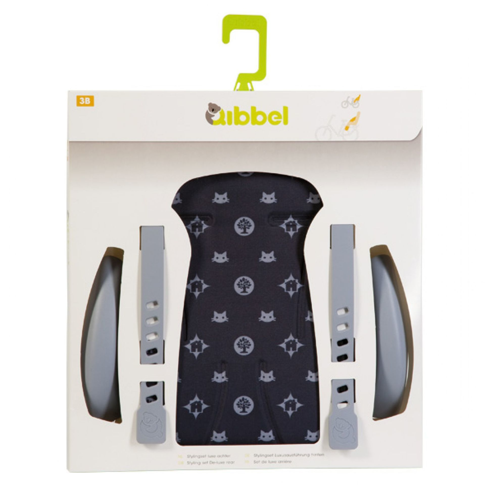 OBICIE FOTELIKA ROWEROWEGO QIBBEL DELUXE FAMILY BLACK