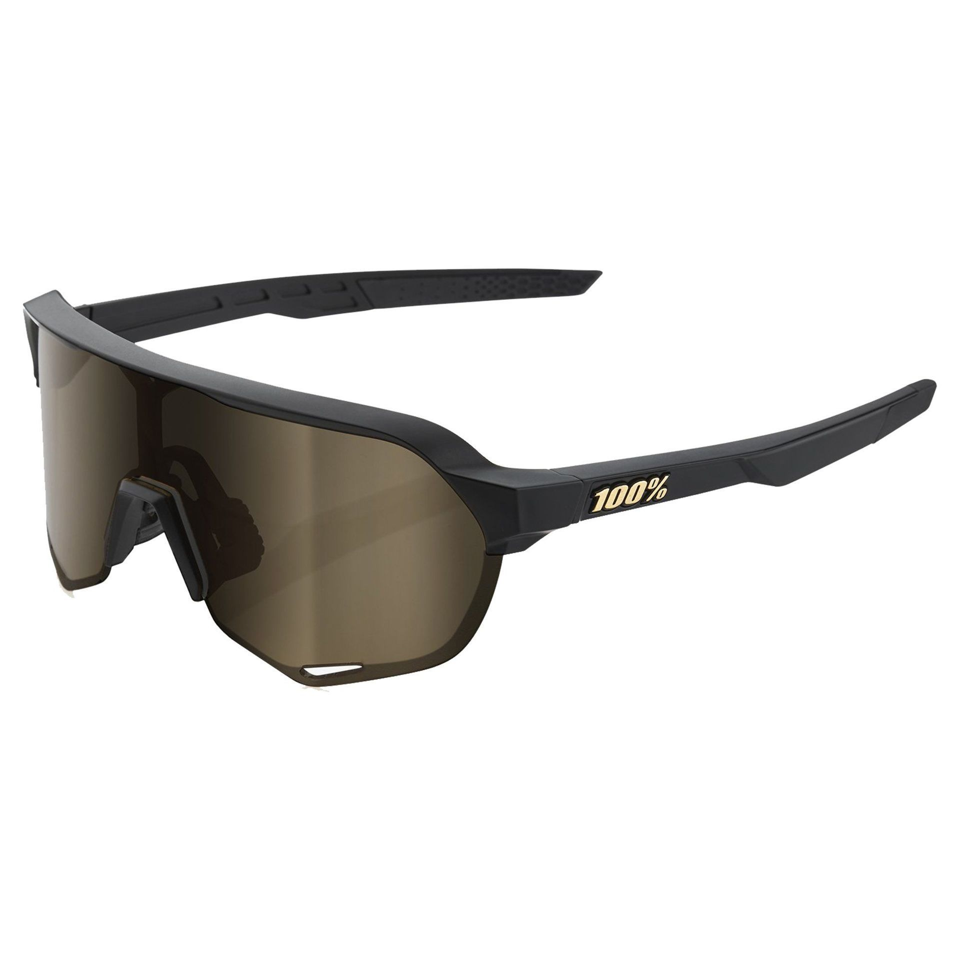 OKULARY 100% S2 MATTE BLACK|SOFT GOLD 1