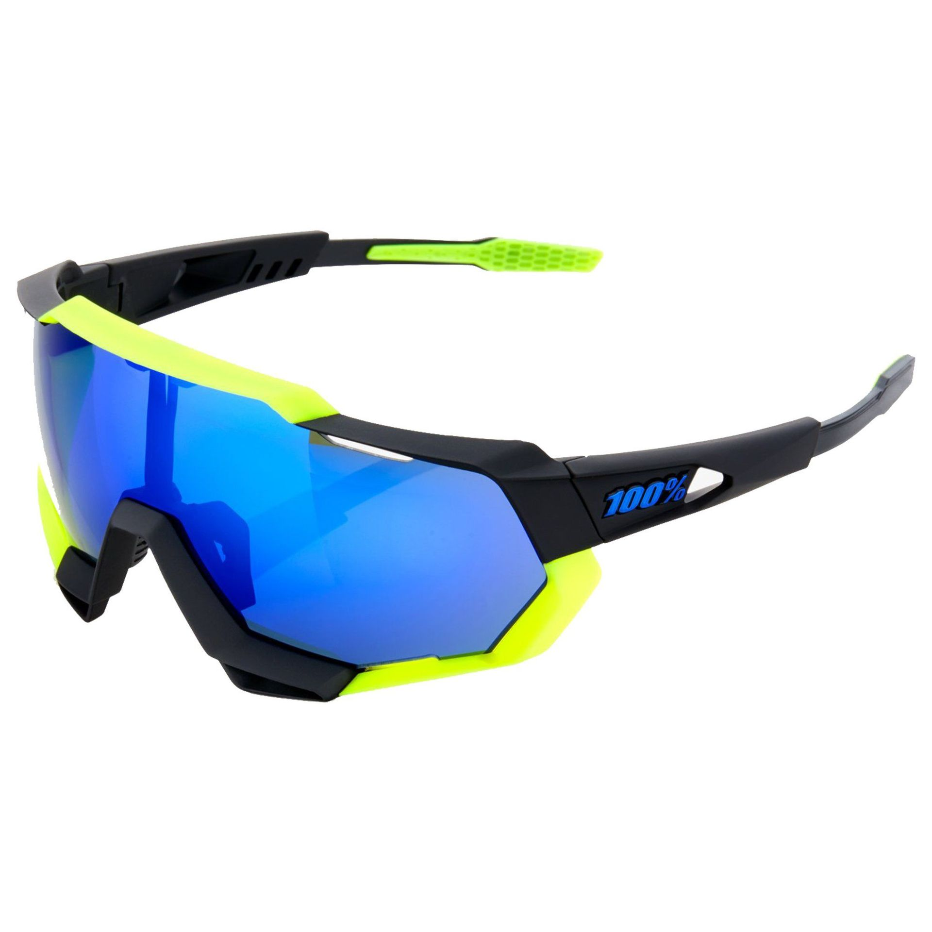 OKULARY 100% SPEEDTRAP SOFT TACT BLACK|NEON YELLOW|ELECTRIC BLUE 1