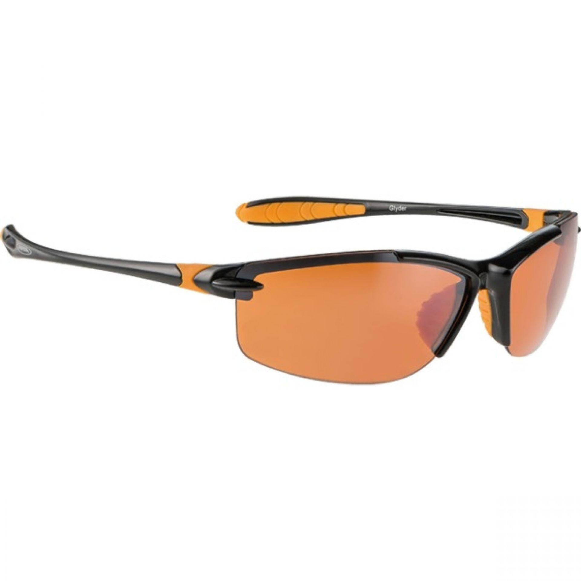 Okulary Alpina Glyder czarno pomarańczowe
