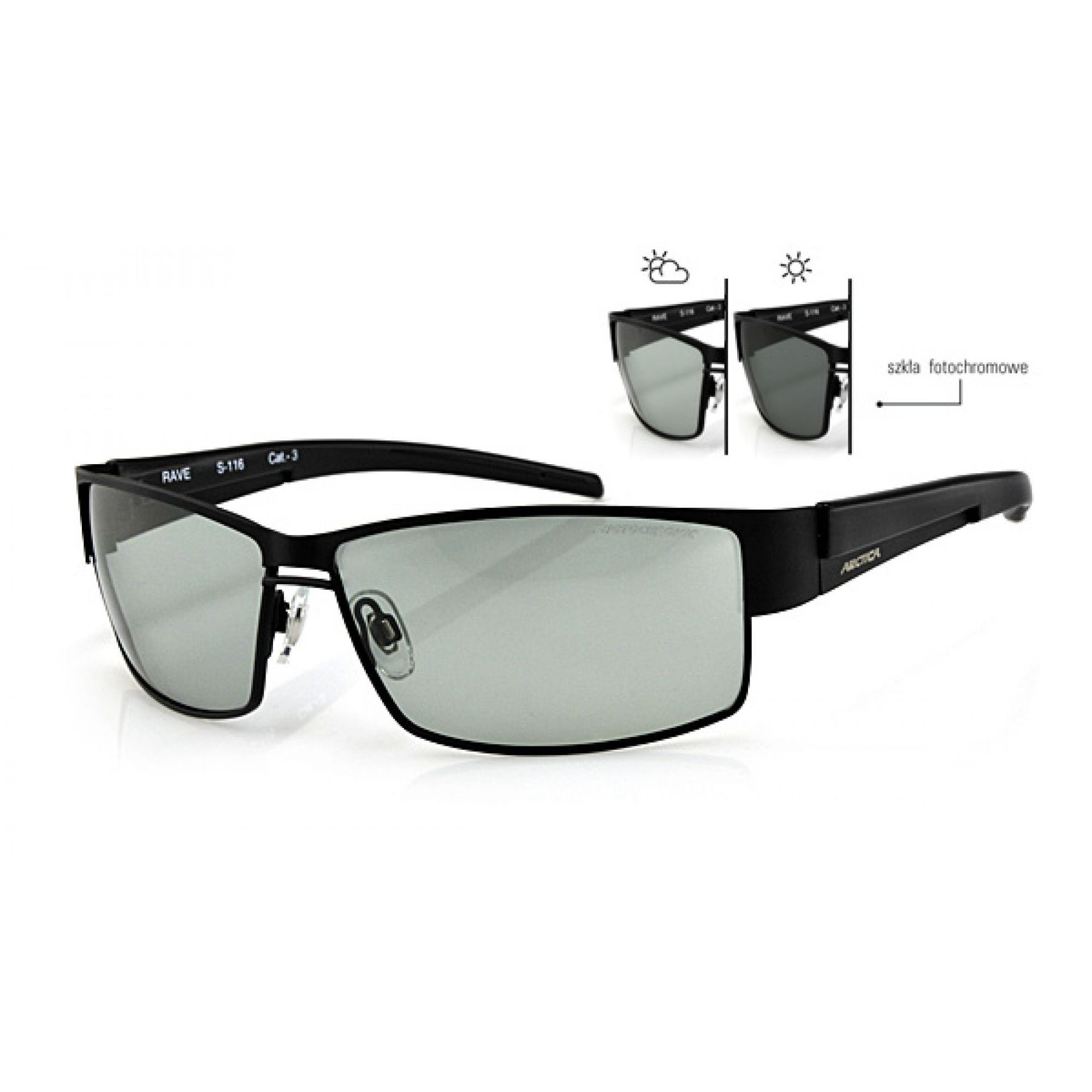 Okulary Arctica S-116 czarne