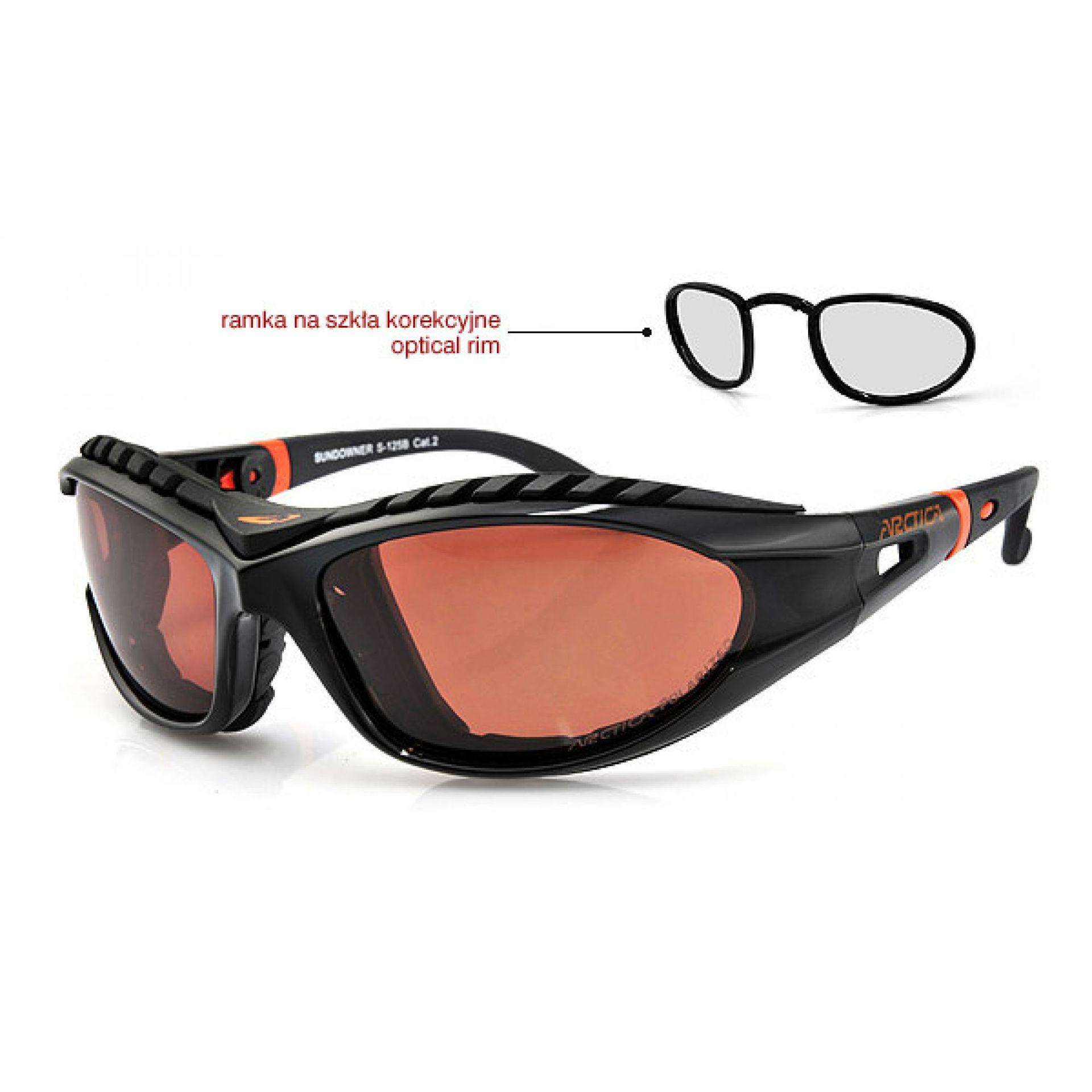 Okulary Arctica S-125B czarno pomarańczowe