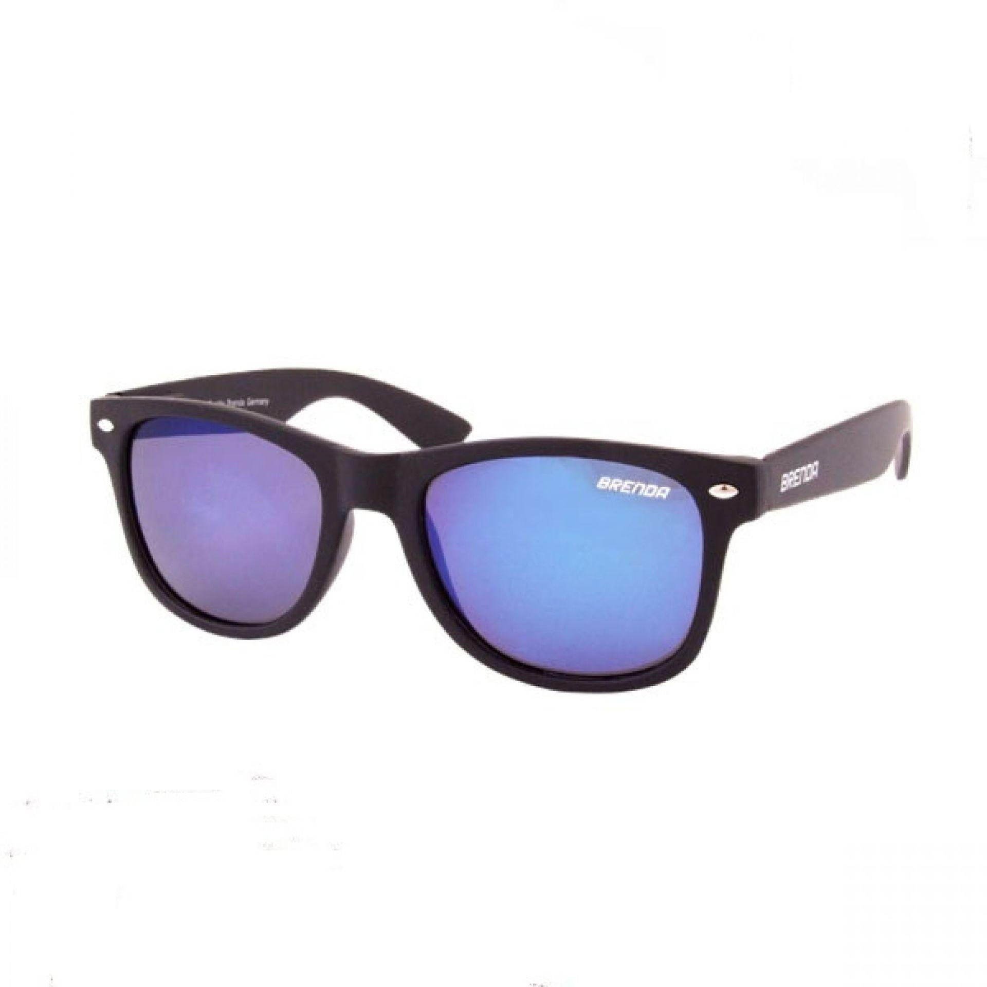 Okulary Brenda P8001-KL07 czarne niebieskie