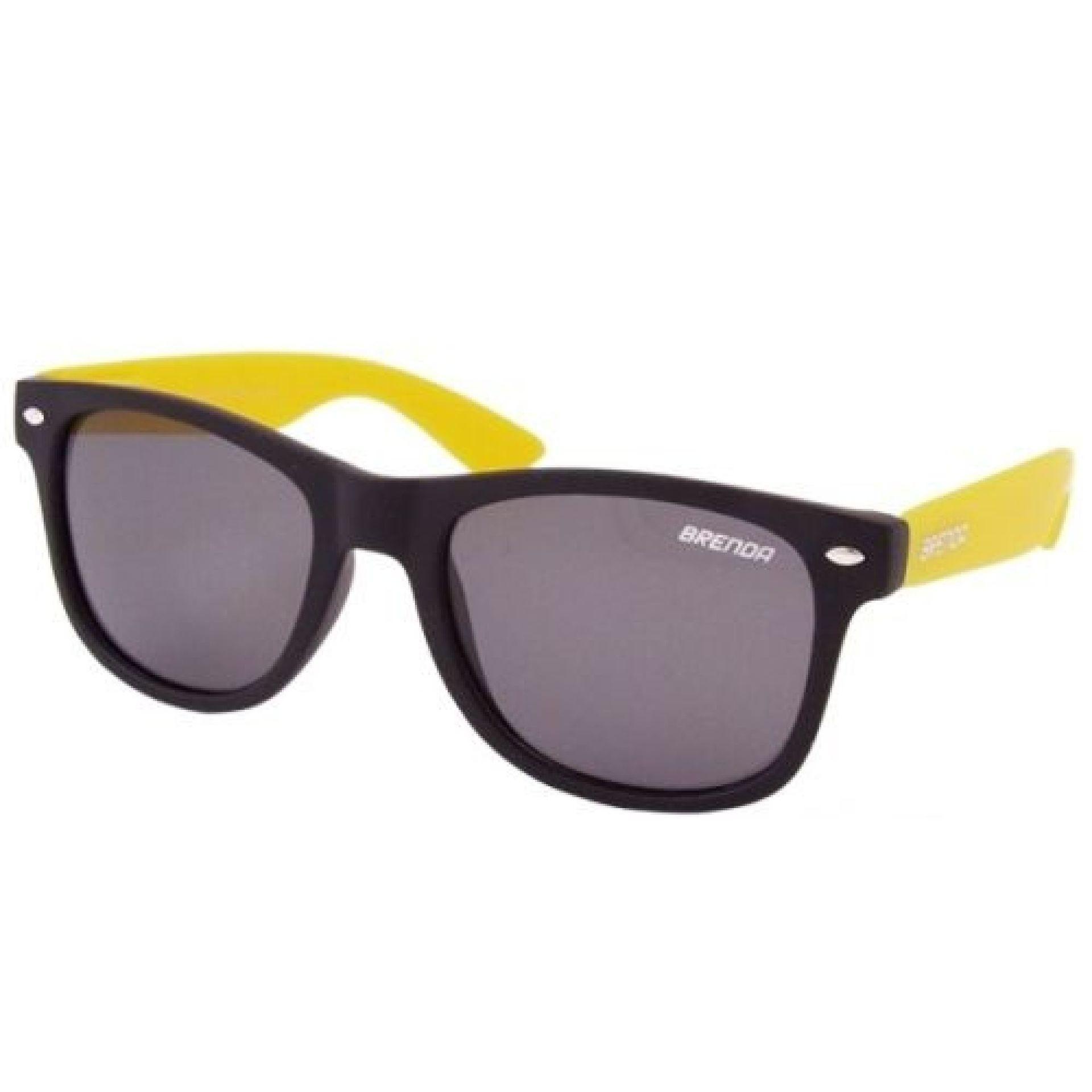 Okulary Brenda P8001-KL11 czarno żółte