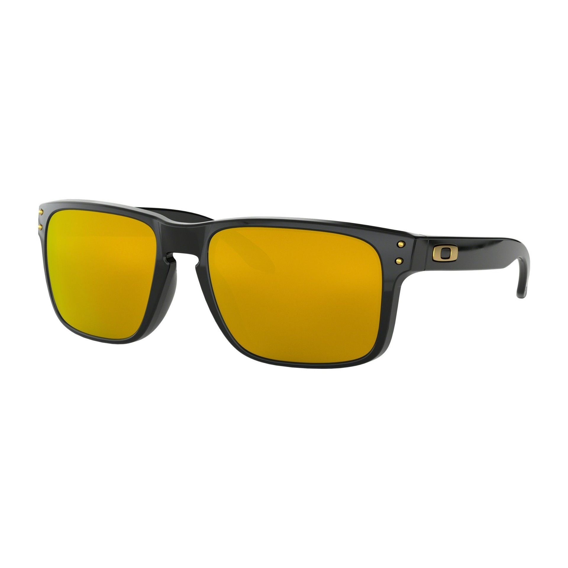 OKULARY OAKLEY HOLBROOK POLISHED BLACK|24K IRIDIUM 1