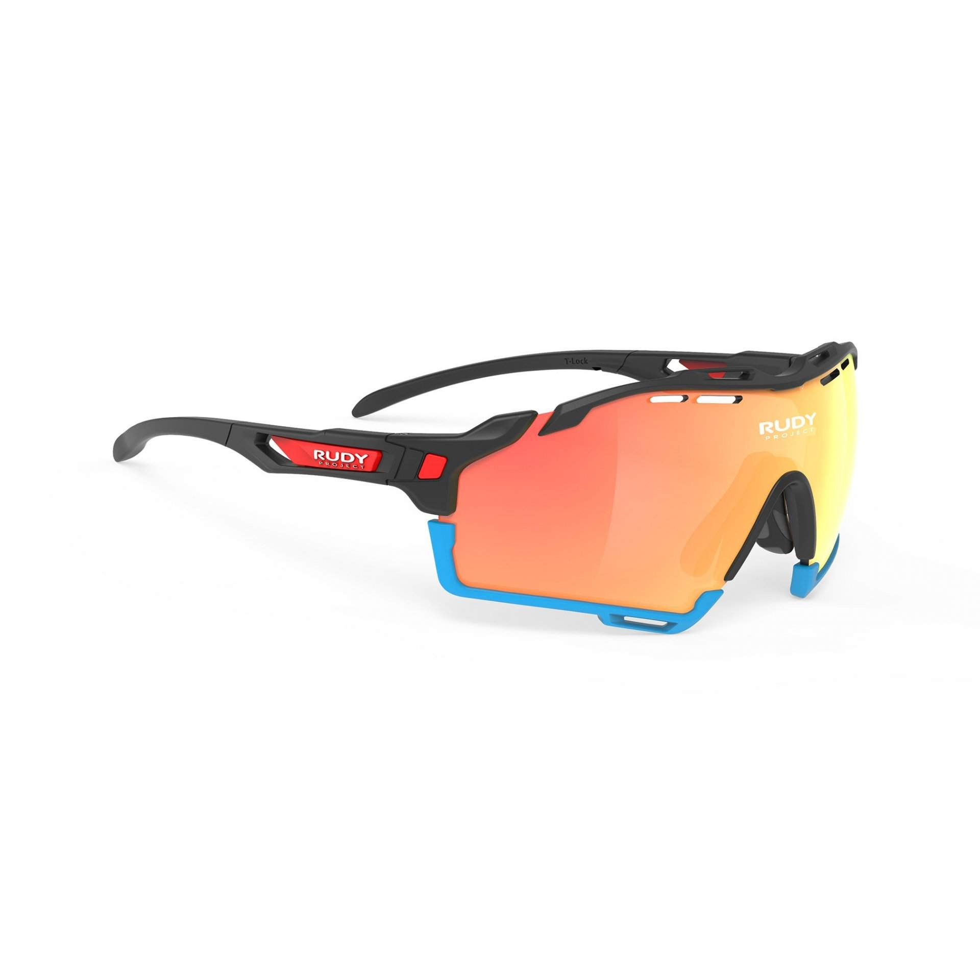 OKULARY RUDY PROJECT CUTLINE MULTILASER ORANGE RACING +BLACK MATTE|AZUR SP634006R000