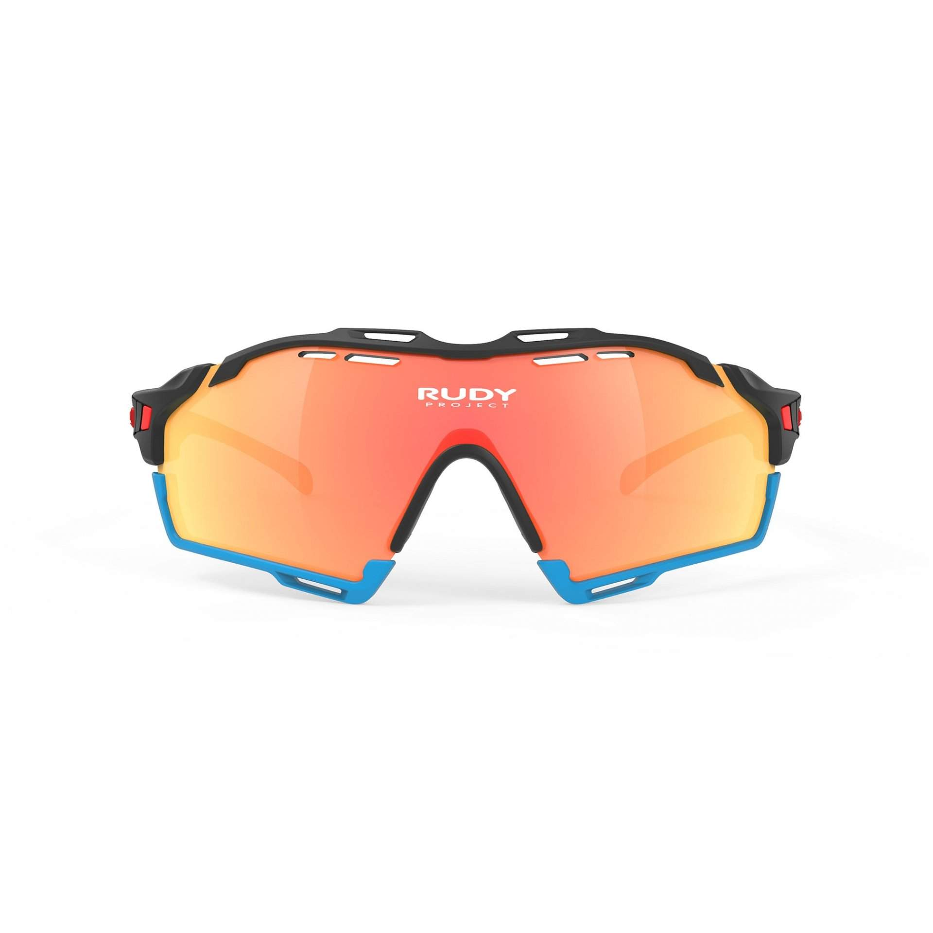 OKULARY RUDY PROJECT CUTLINE MULTILASER ORANGE RACING +BLACK MATTE|AZUR SP634006R000 PRZÓD