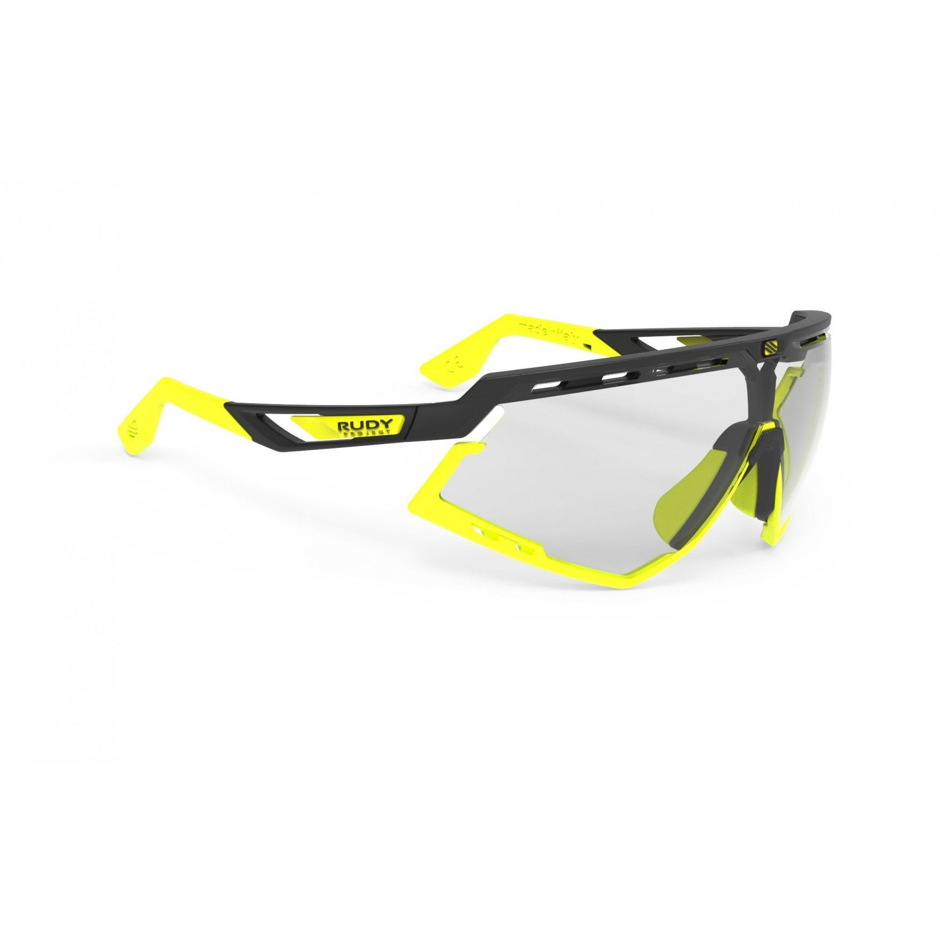 OKULARY RUDY PROJECT DEFENDER BLACK|YELLOW FLUO + IMPACTX PHOTOCHROMIC 2LASERBLACK SP527806 1