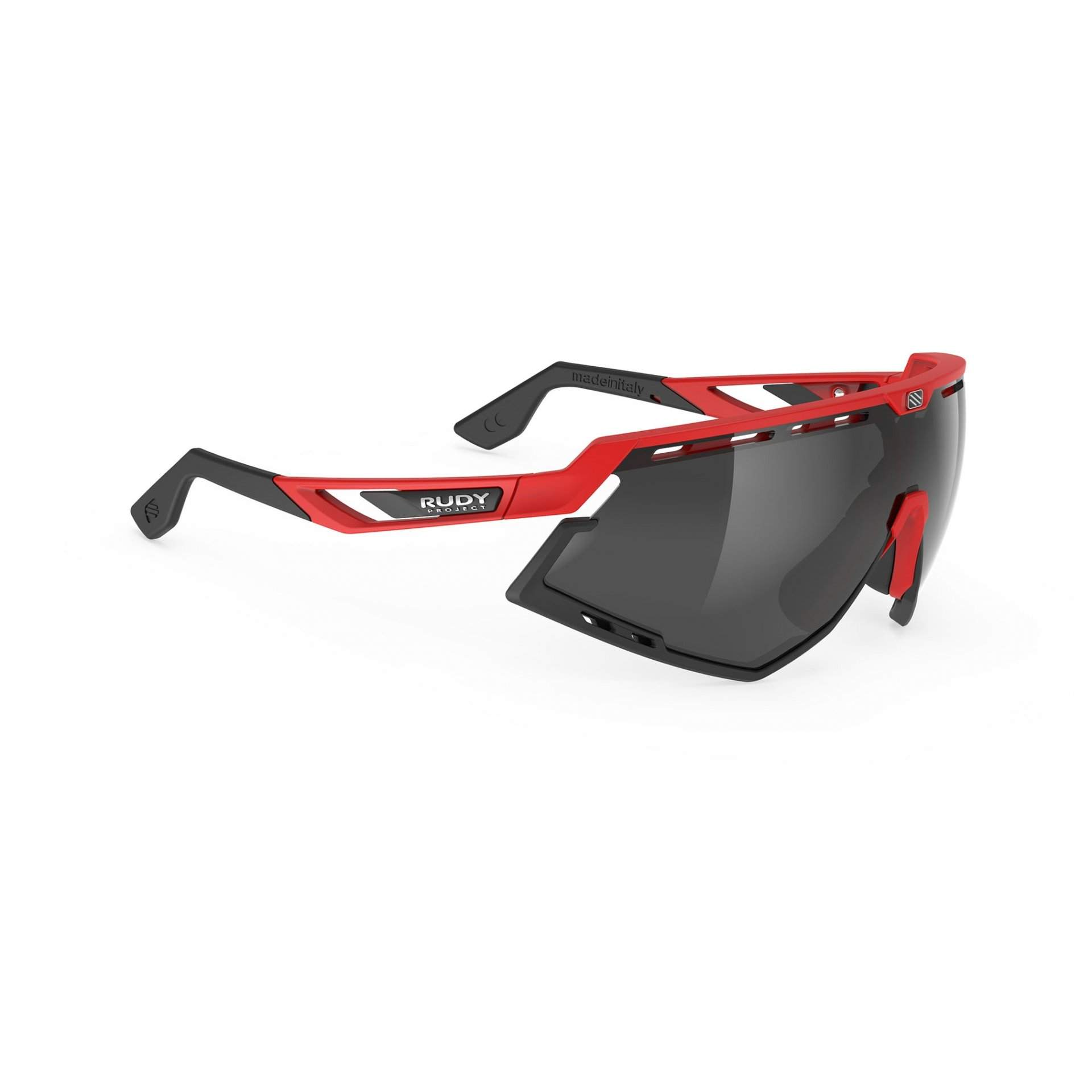 OKULARY RUDY PROJECT DEFENDER FIRE RED MATTE SMOKE BLACK 1