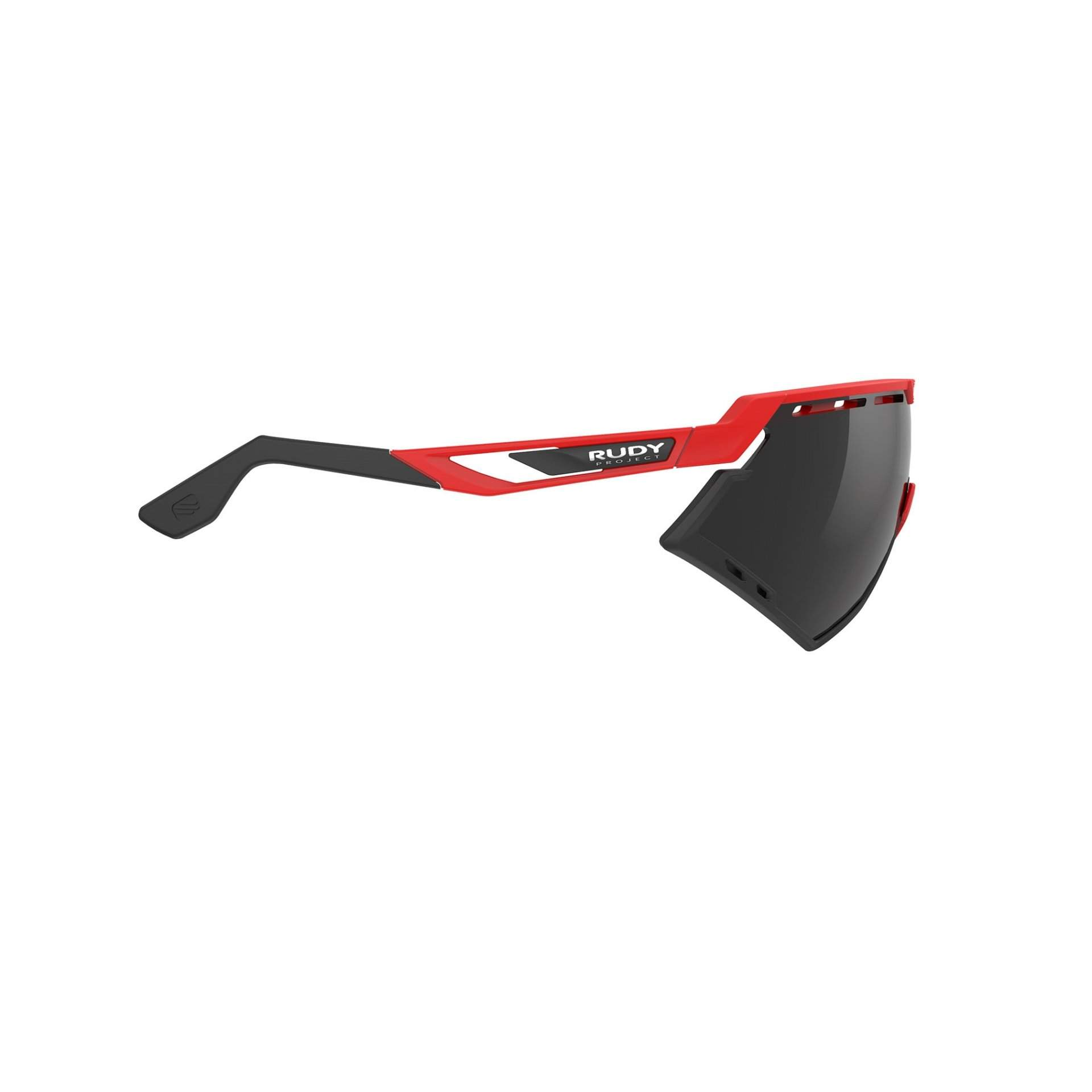 OKULARY RUDY PROJECT DEFENDER FIRE RED MATTE SMOKE BLACK 4