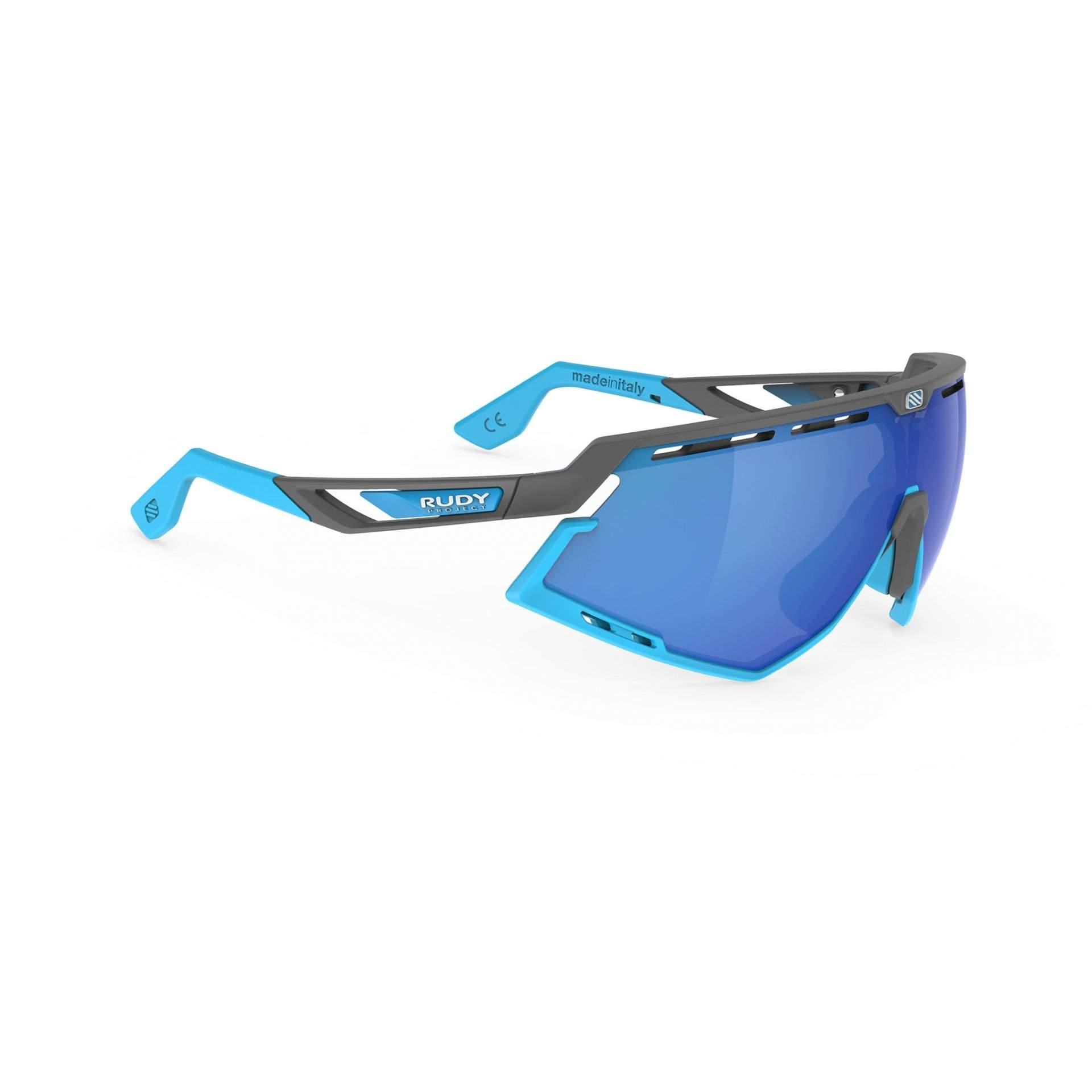 OKULARY RUDY PROJECT DEFENDER MULTILASER BLUE + GGREY BUMPERS AZUR SP5239750002