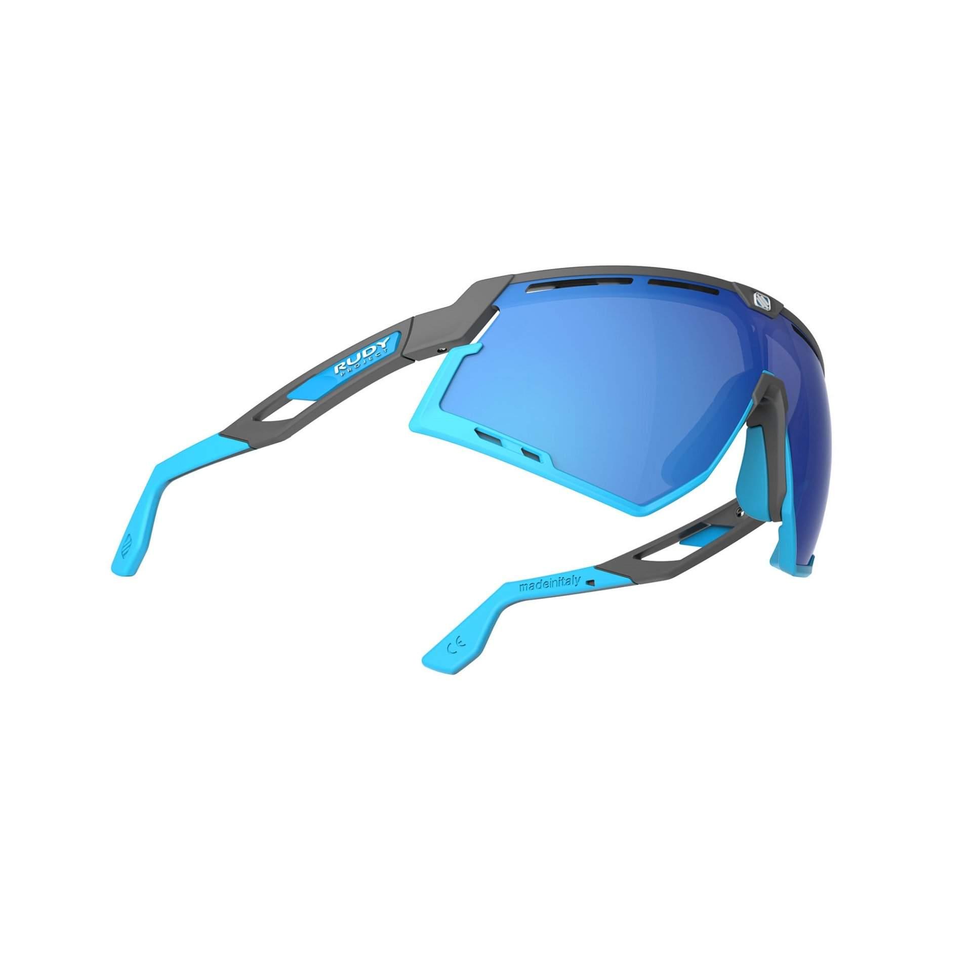 OKULARY RUDY PROJECT DEFENDER MULTILASER BLUE + GGREY BUMPERS AZUR SP5239750002 Z DOŁU