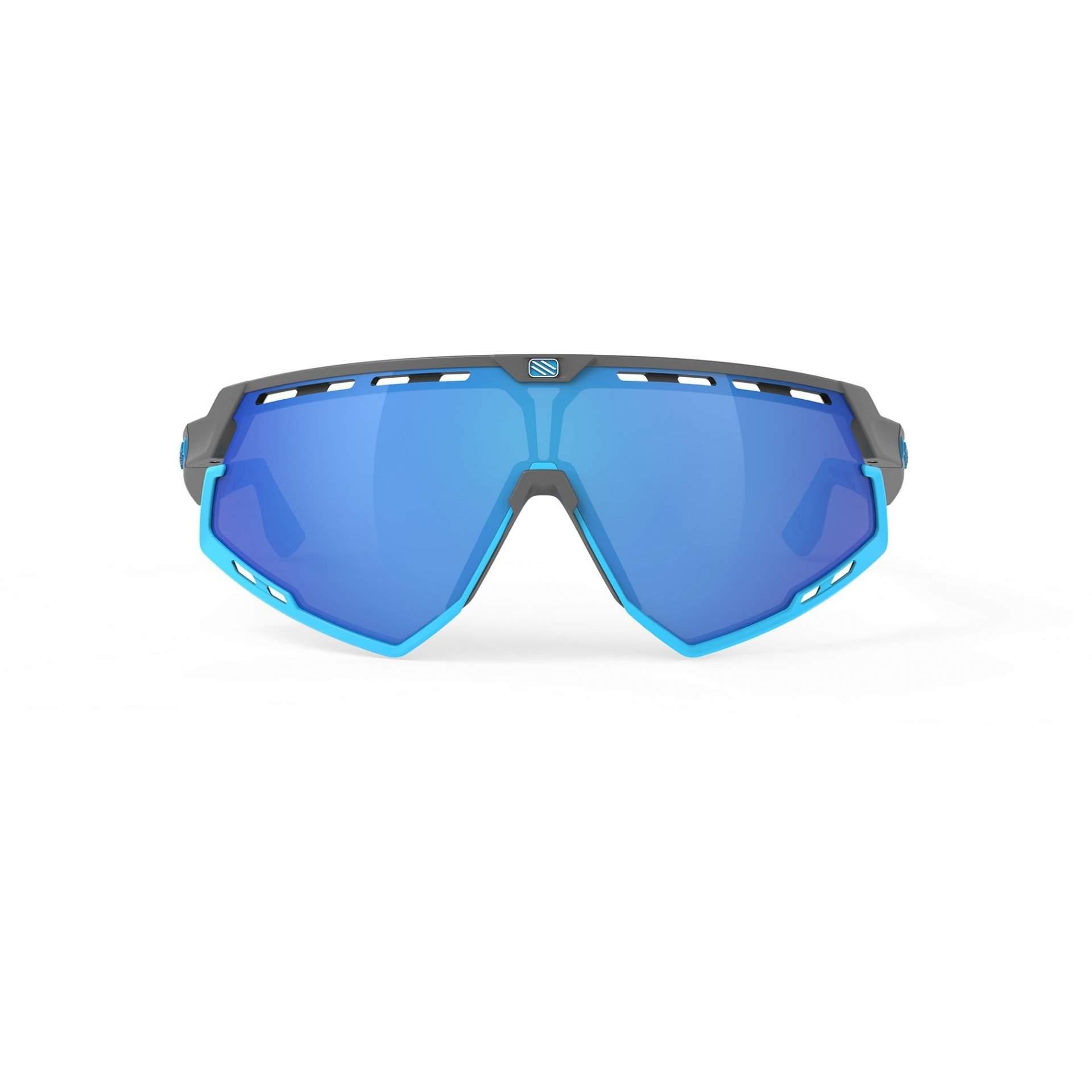 OKULARY RUDY PROJECT DEFENDER MULTILASER BLUE + GGREY BUMPERS AZUR SP5239750002 Z PRZODU