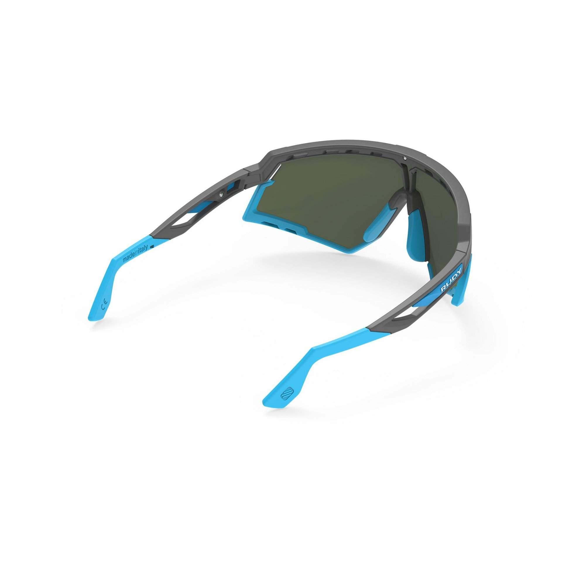 OKULARY RUDY PROJECT DEFENDER MULTILASER BLUE + GGREY BUMPERS AZUR SP5239750002 Z TYŁU
