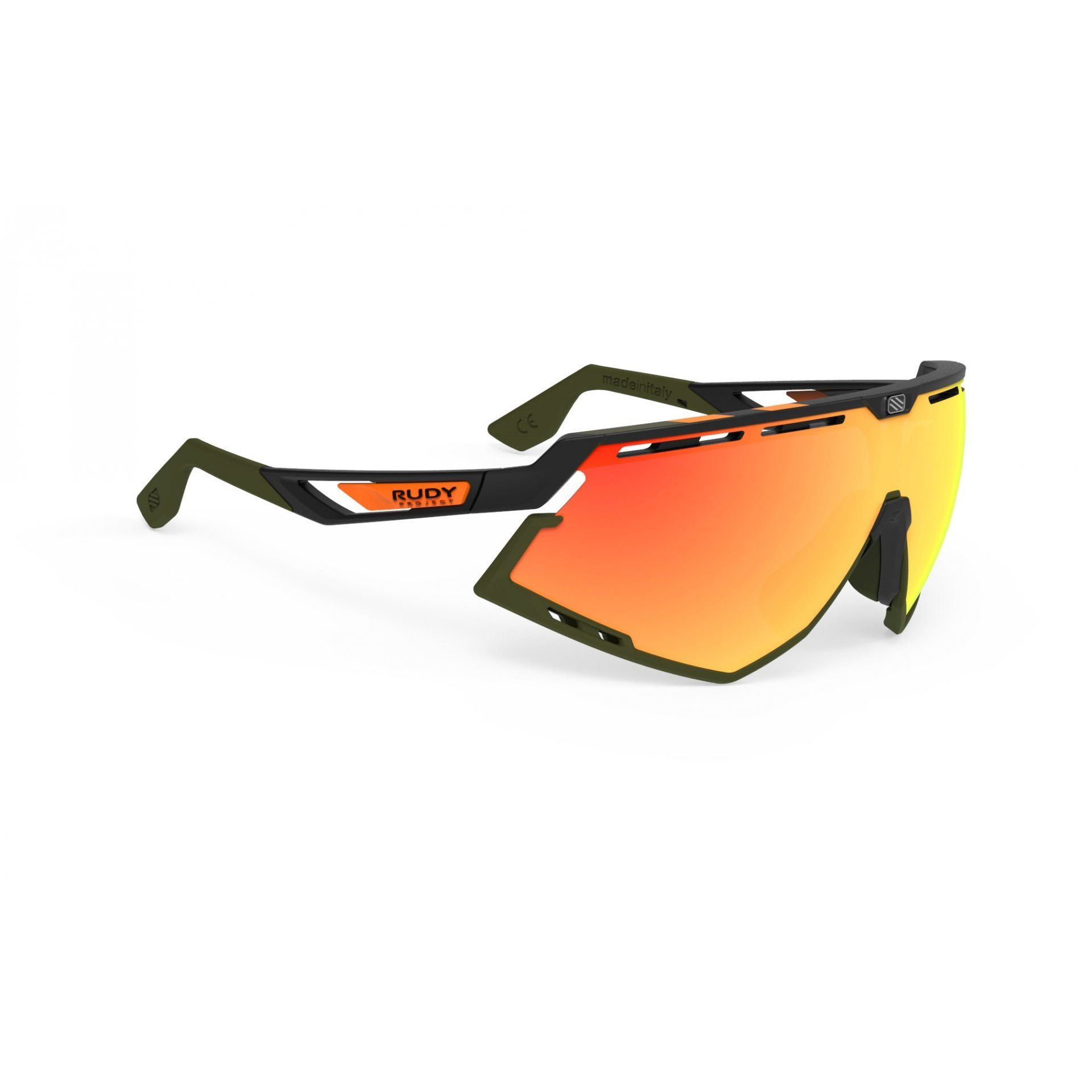 OKULARY RUDY PROJECT DEFENDER STRIPES BLACK MATTE|BLACK+MULTILASER ORANGE 1