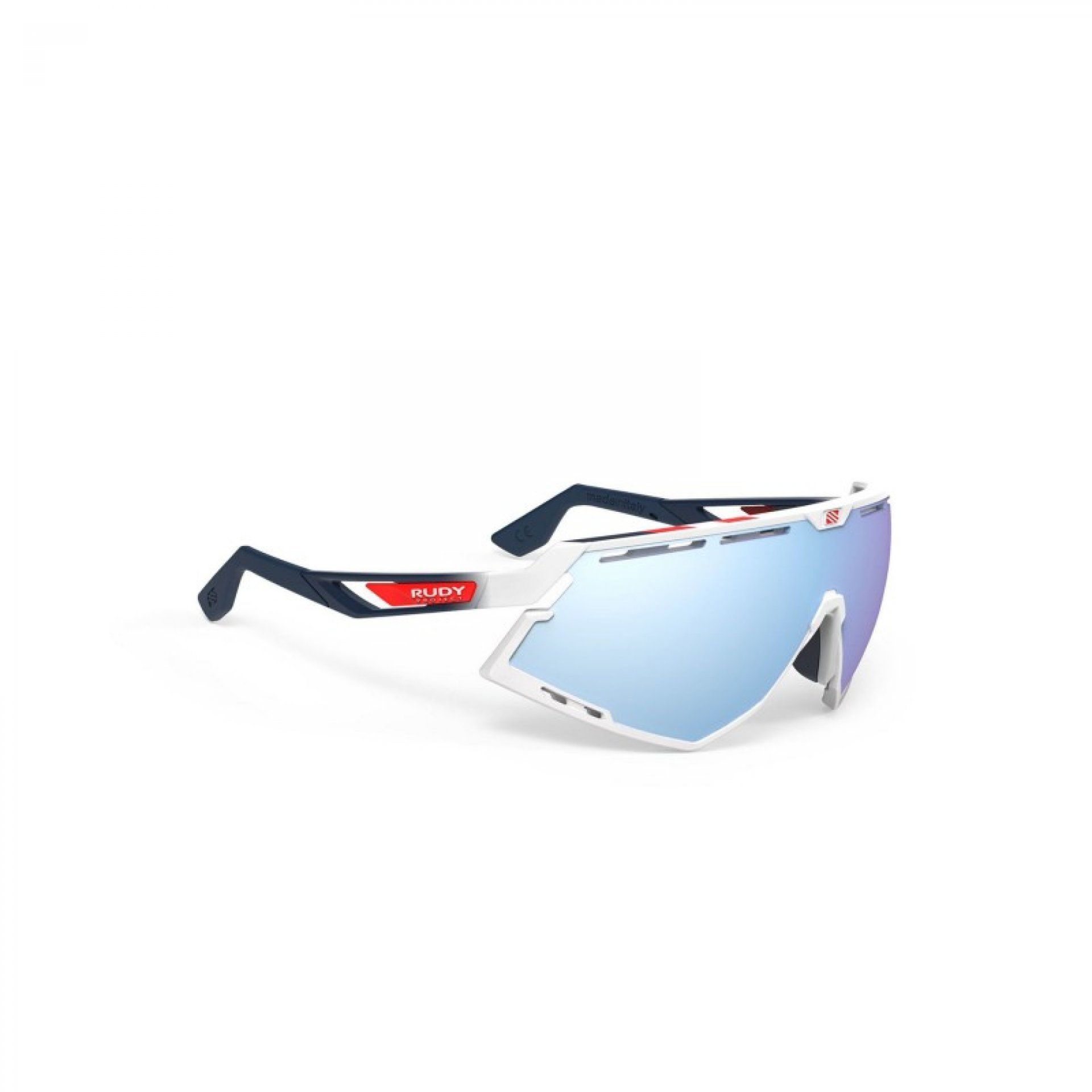 OKULARY RUDY PROJECT DEFENDER WHITE GLOSSY + MULTILASER ICE 1