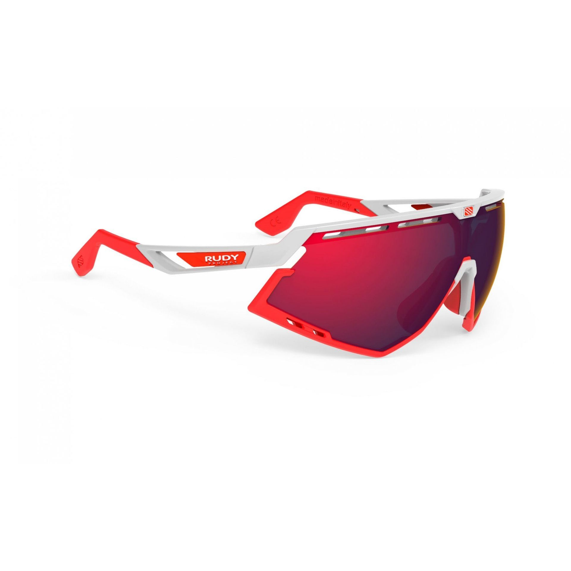 OKULARY RUDY PROJECT DEFENDER WHITE|RED + MULTILASER RED SP523869 1