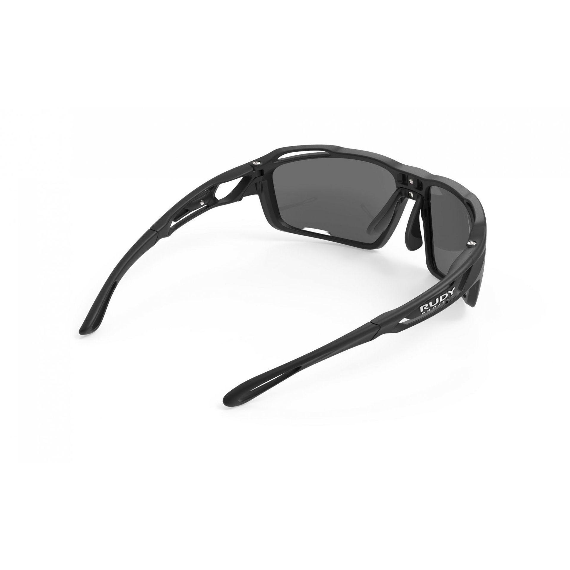 OKULARY RUDY PROJECT SINTRYX BLACK + SMOKE TRANS SP491006 5