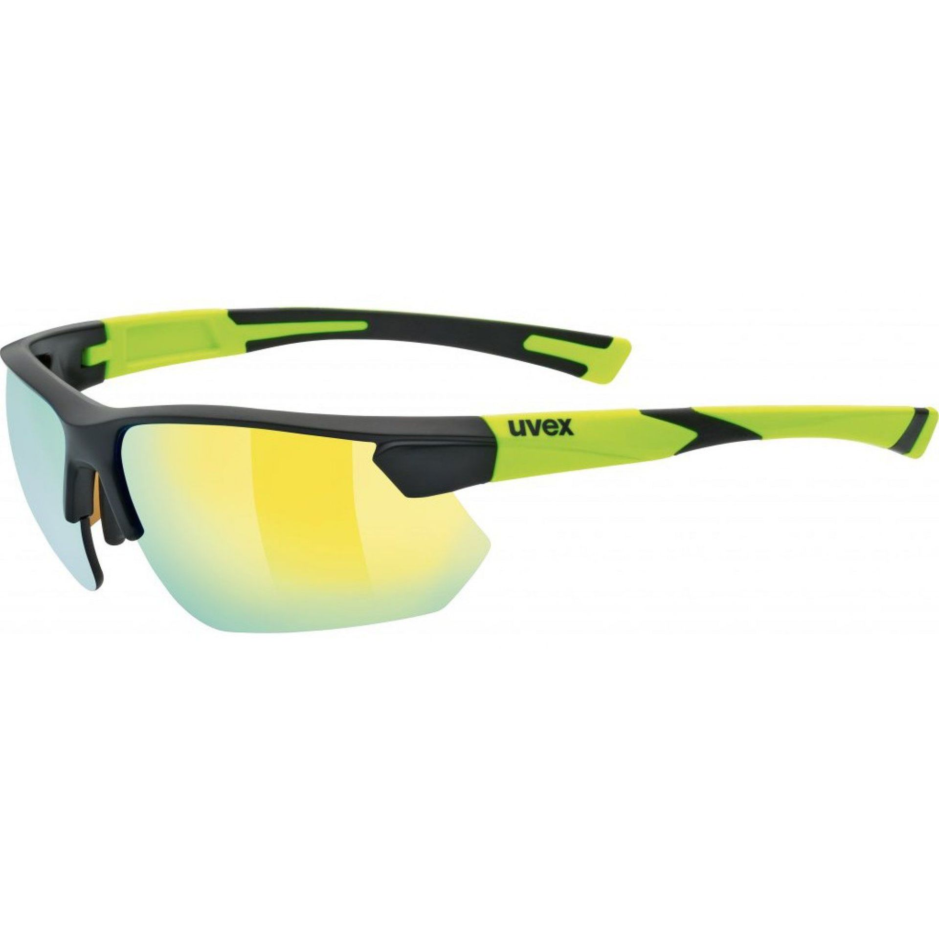 OKULARY UVEX SPORTSTYLE 221 BLACK MAT YELLOW