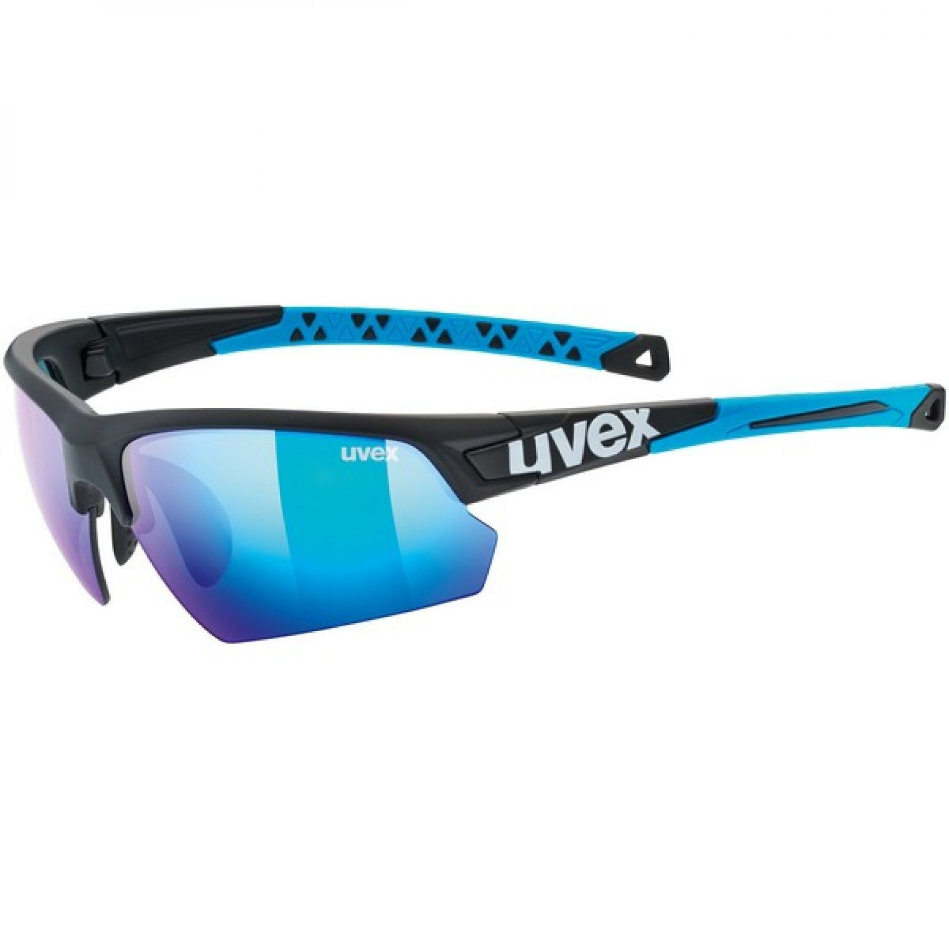 OKULARY UVEX SPORTSTYLE 224 2416 BLACK MAT BLUE