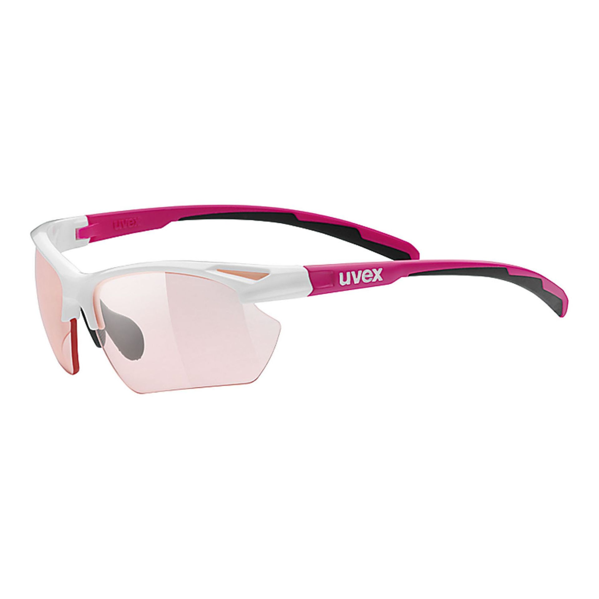 OKULARY UVEX  SPORTSTYLE 802 SMALL PINK WHITE