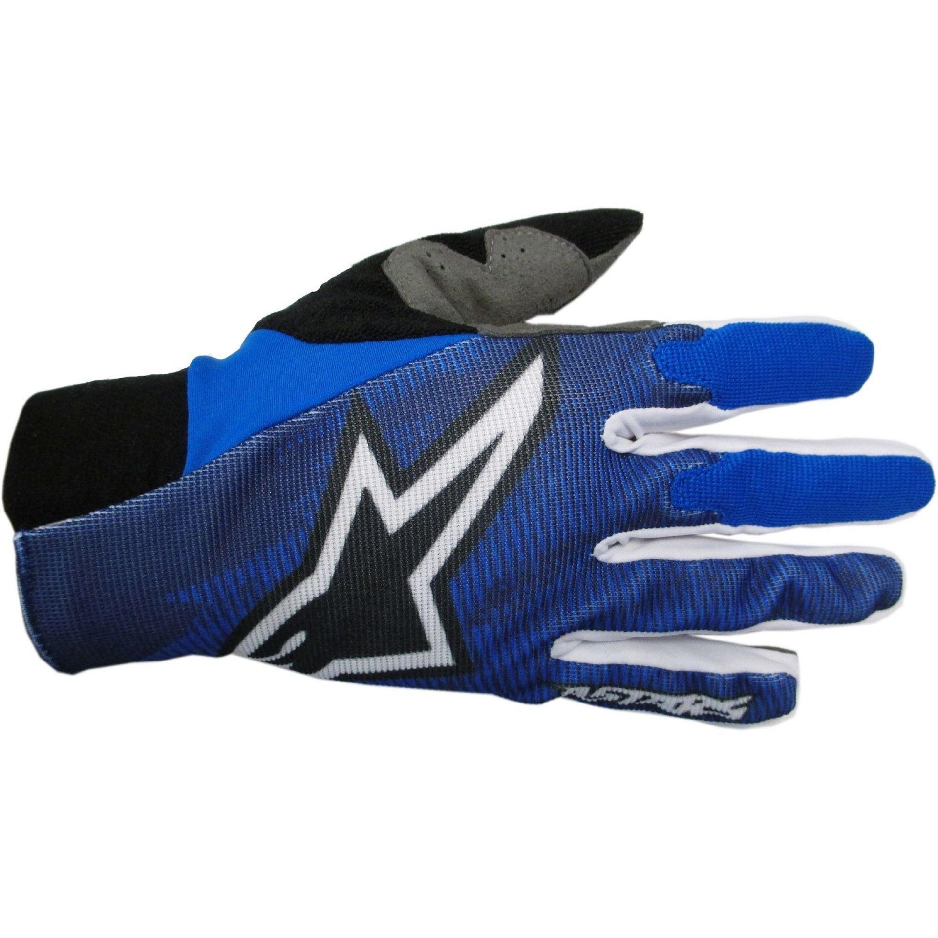 Rękawiczki rowerowe Alpinestars Aero niebieskie