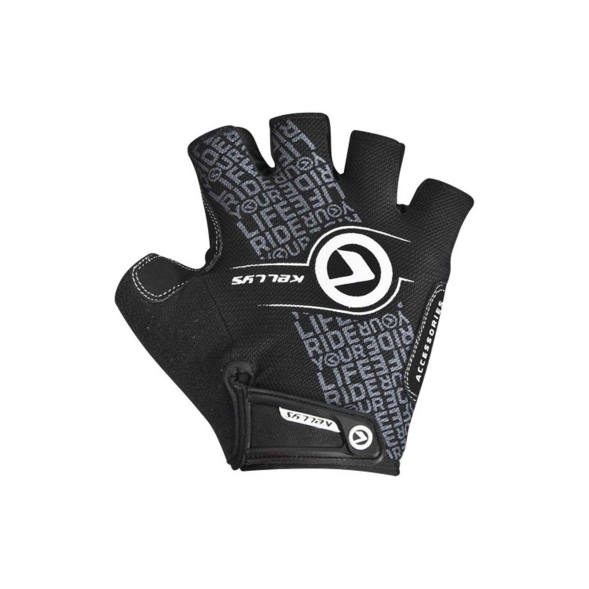 Rękawiczki rowerowe Kellys Comfort New czarny biały