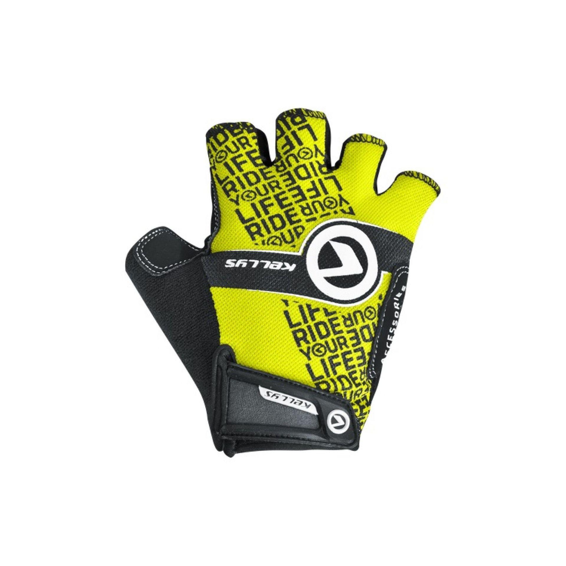 Rękawiczki rowerowe Kellys Comfort New limonkowe
