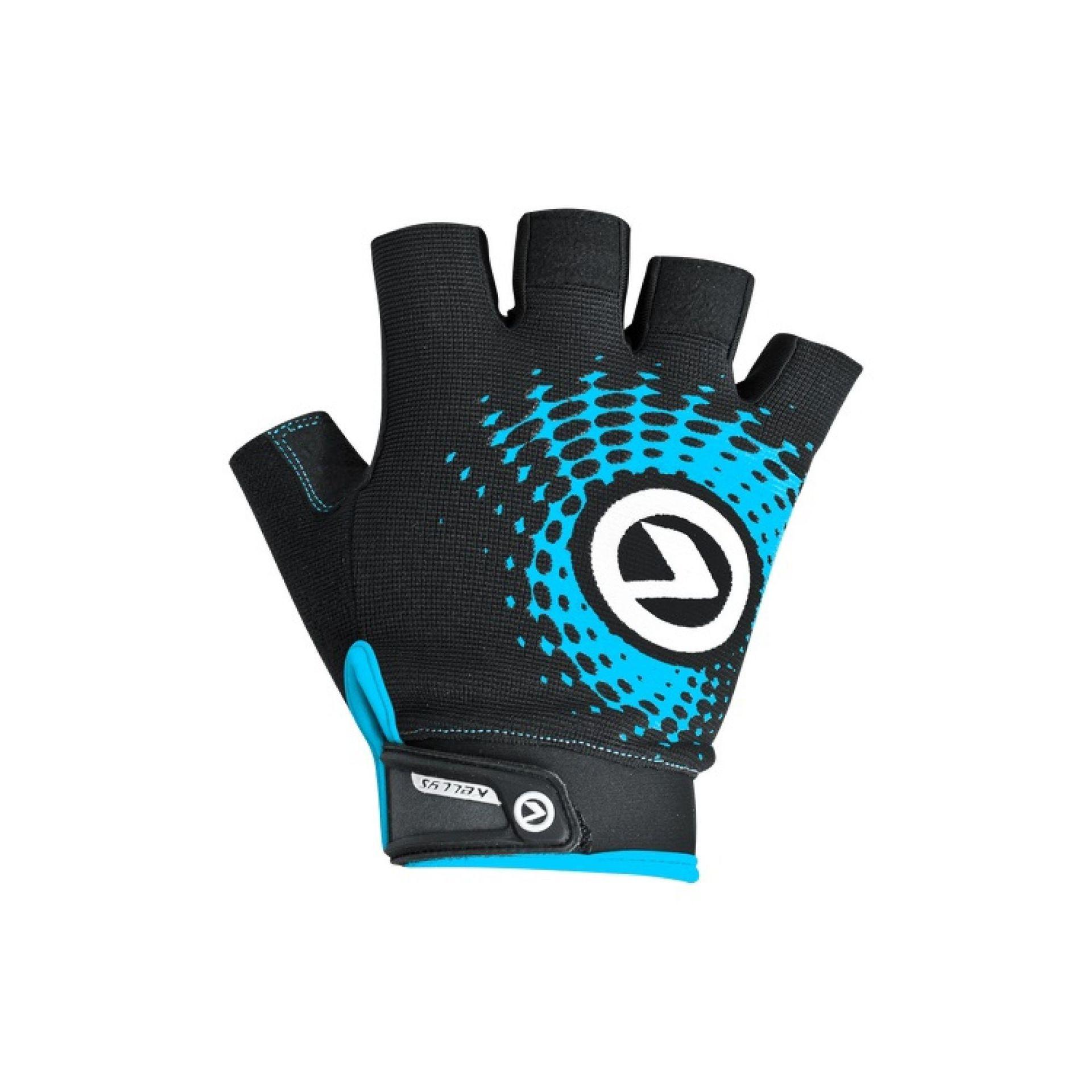 Rękawiczki rowerowe Kellys Impact Short czarne|niebieskie