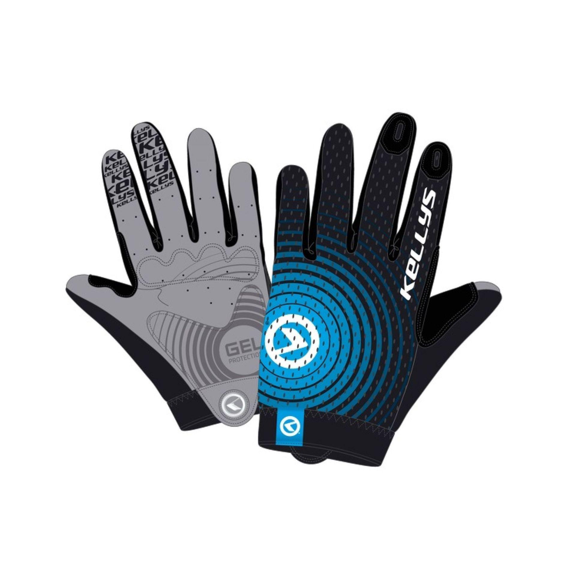 Rękawiczki rowerowe Kellys Instinct Long czarny|niebieski