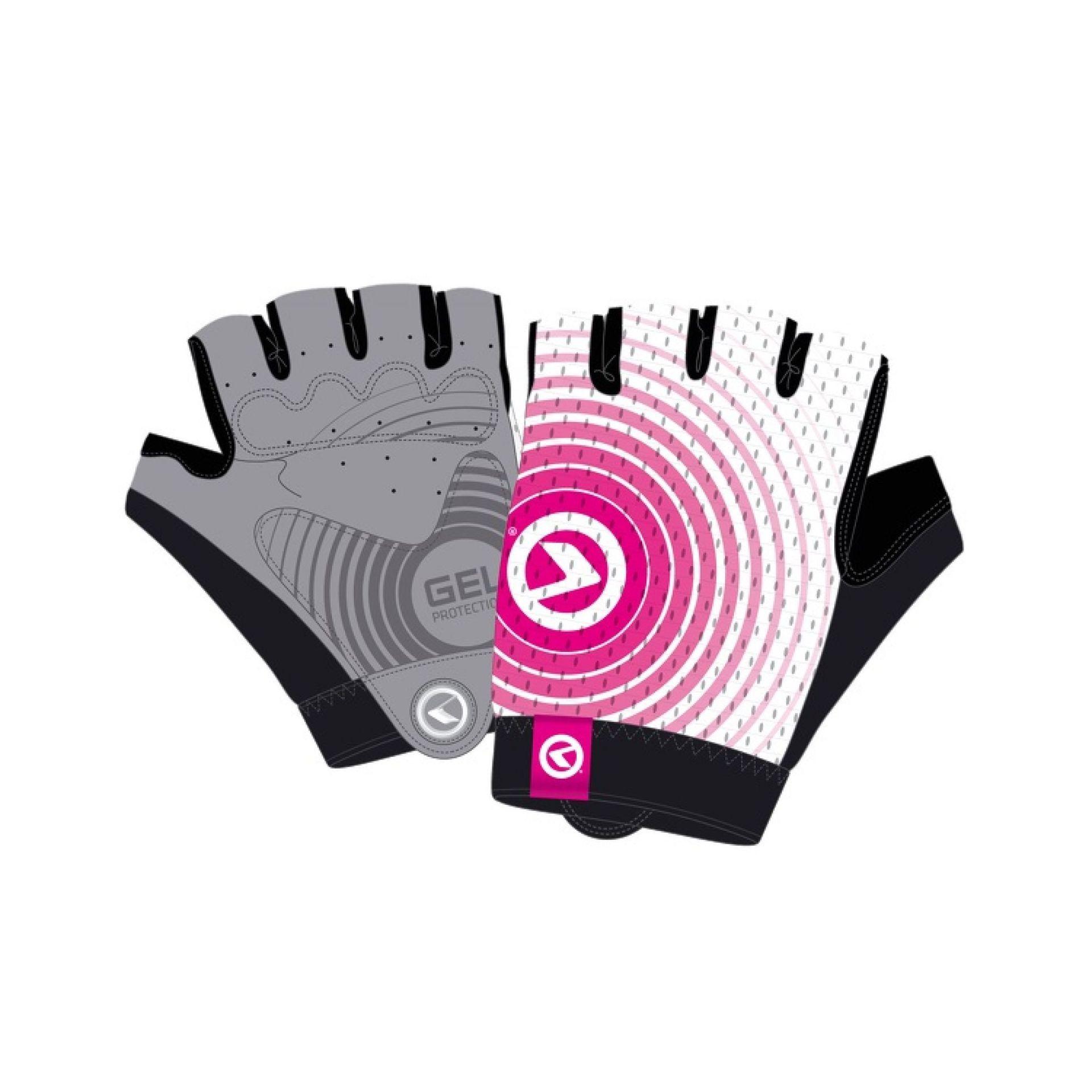 Rękawiczki rowerowe Kellys Instinct Short biały|różowy