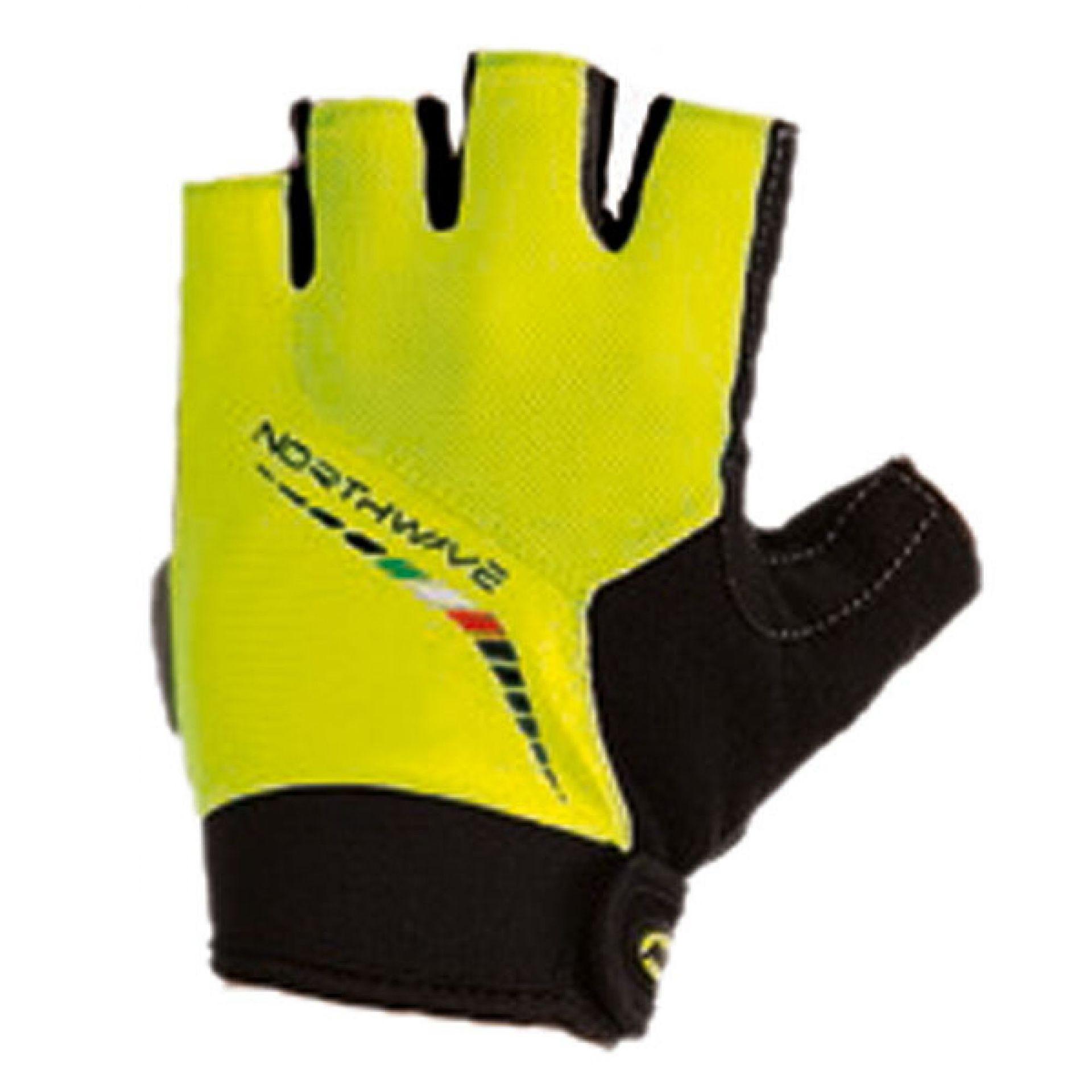 Rękawiczki Rowerowe Northface Force Short żółte