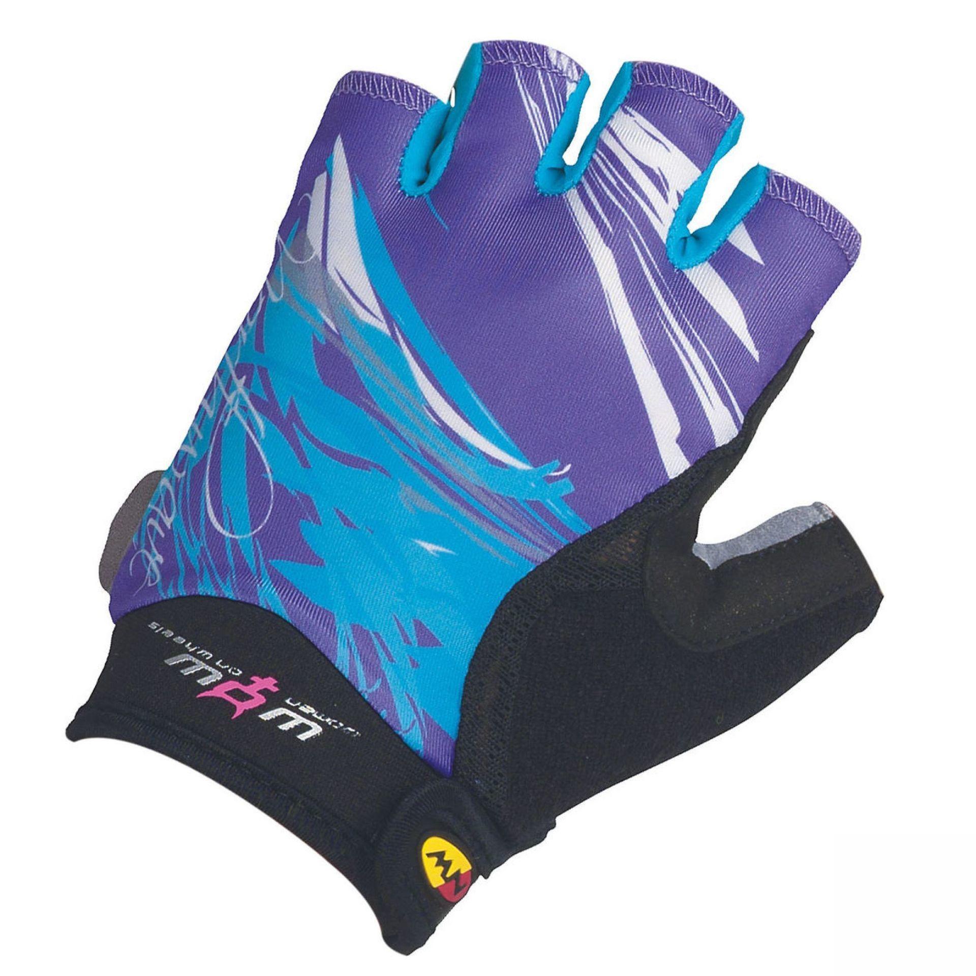 Rękawiczki rowerowe Northwave Crystal fioletowe