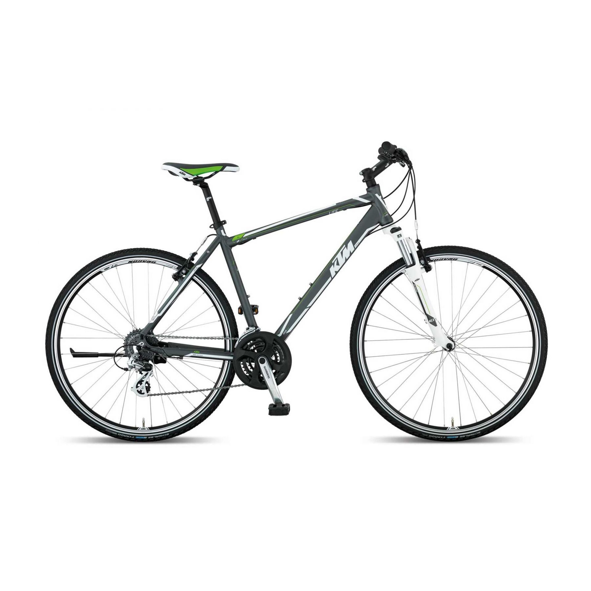 Rower Ktm Life One szary biały zielony
